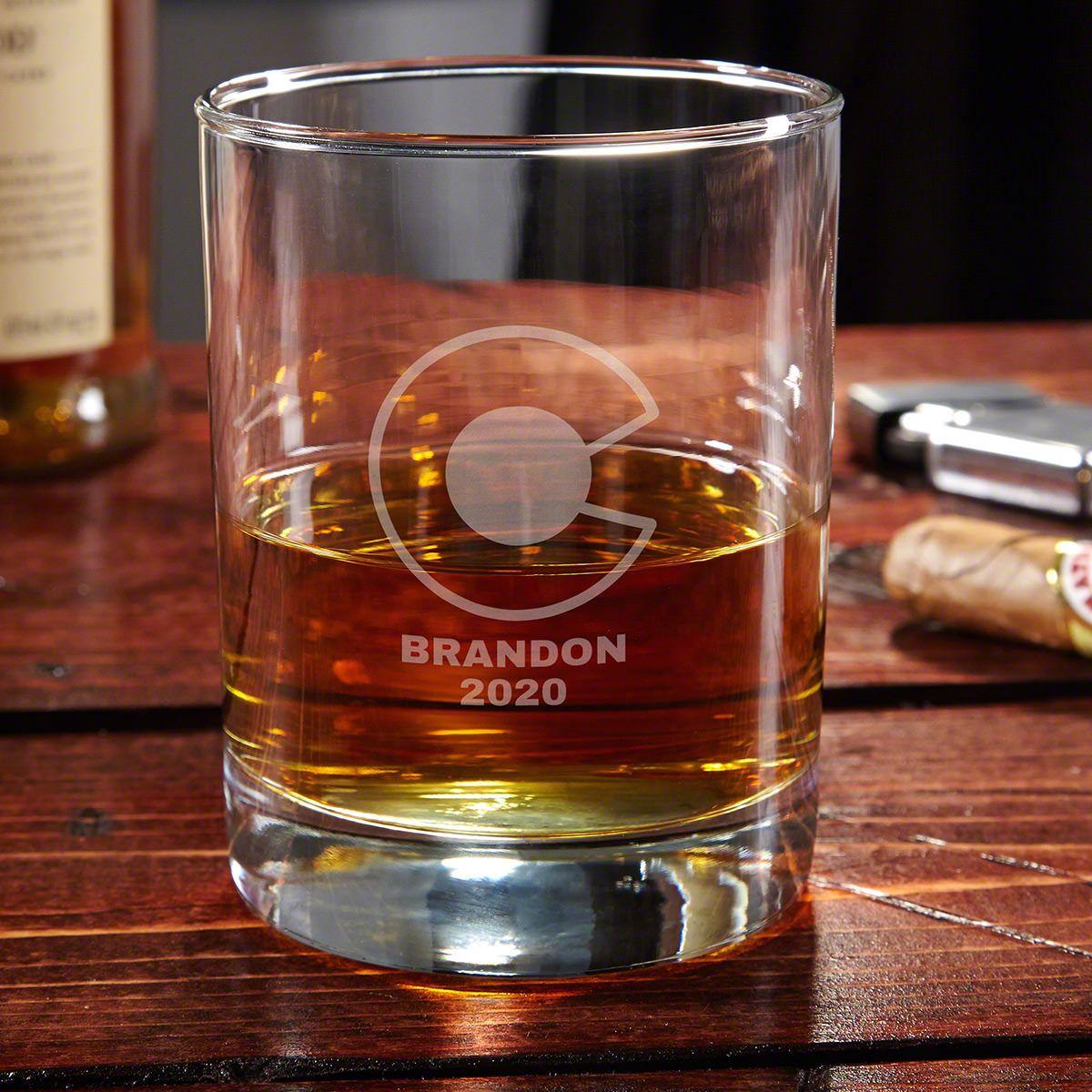 Colorado Flag Custom Whiskey Glass