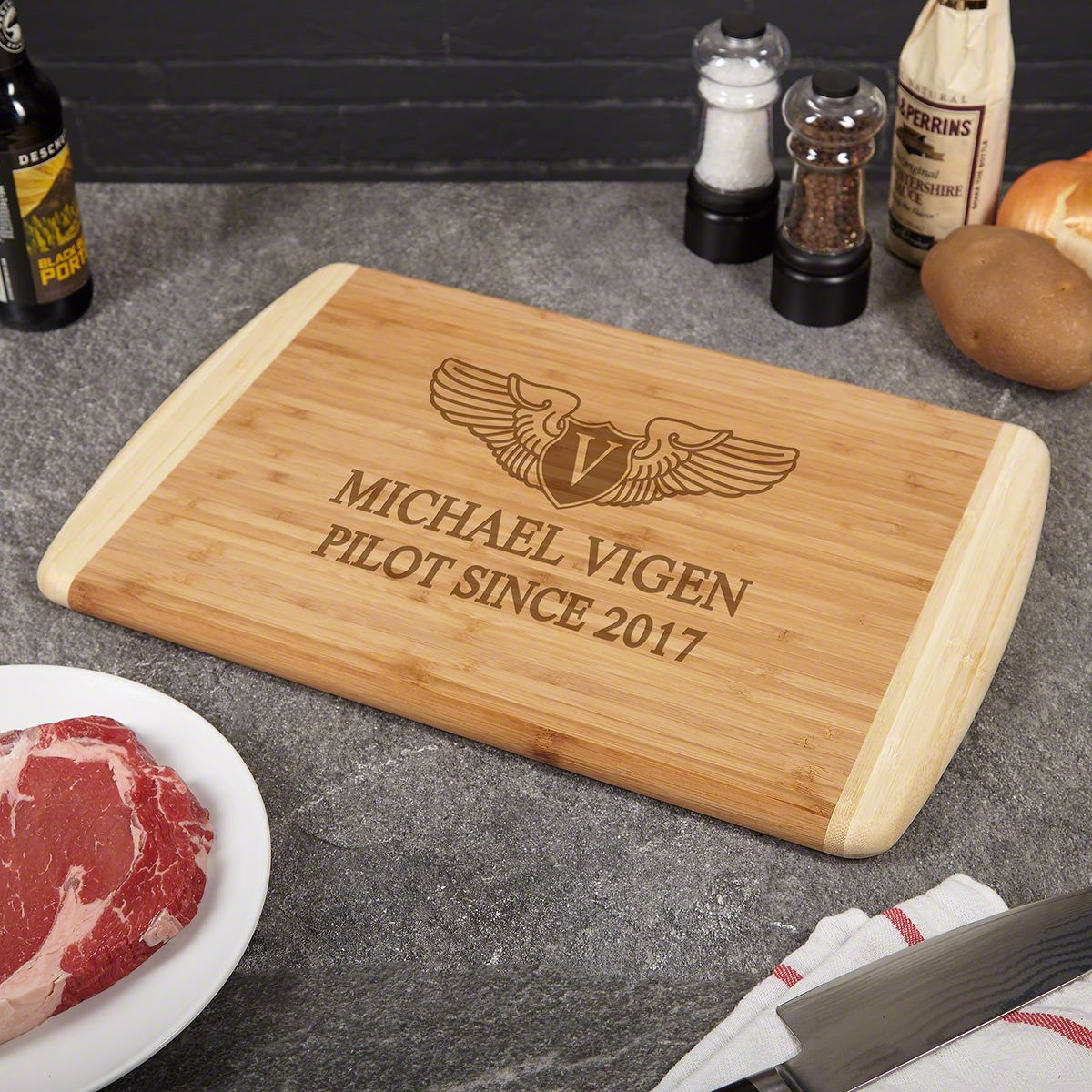 Take Flight Personalized Cutting Board – Gift for Pilots