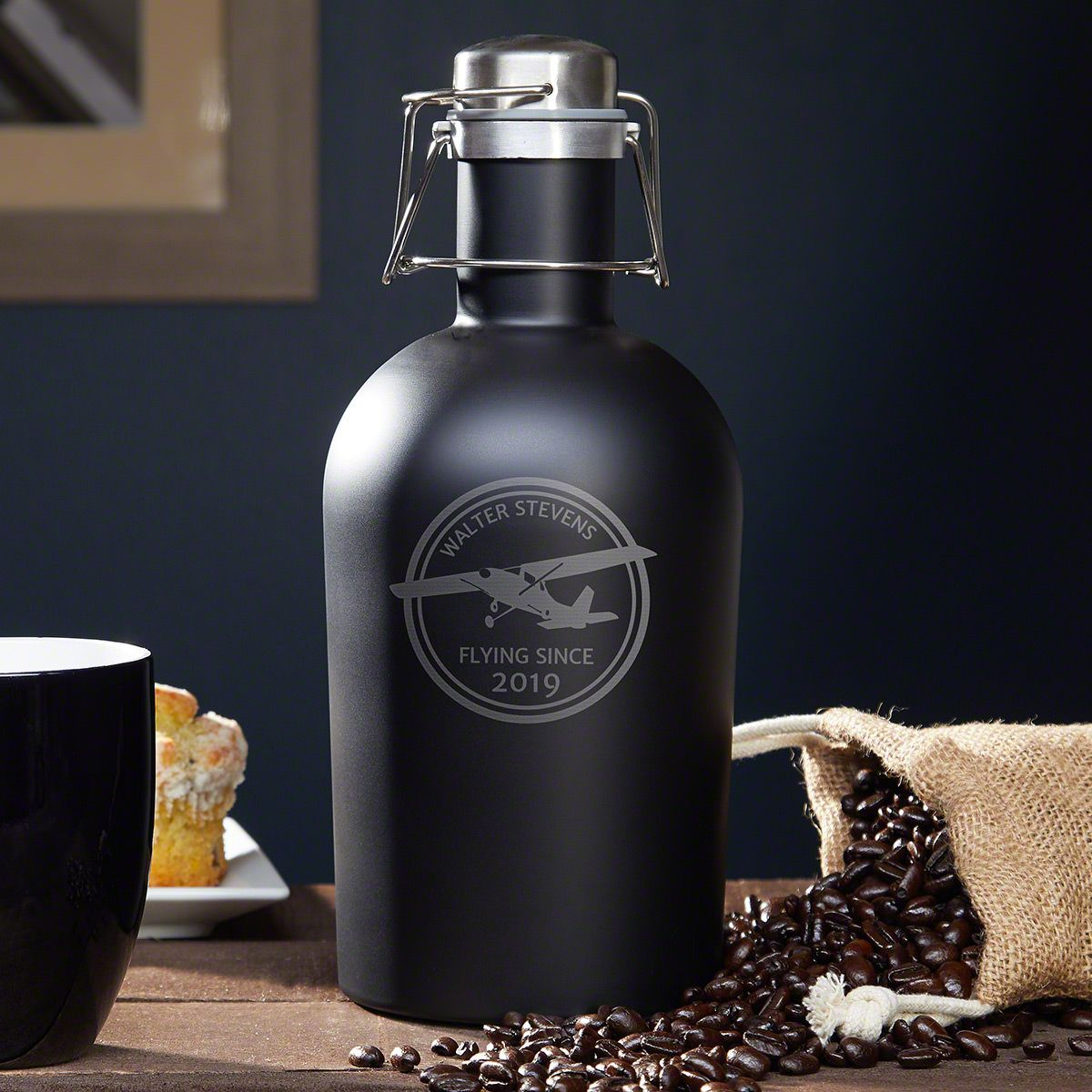 Aviator Custom Stainless Steel Coffee Carafe - Gift for Pilots