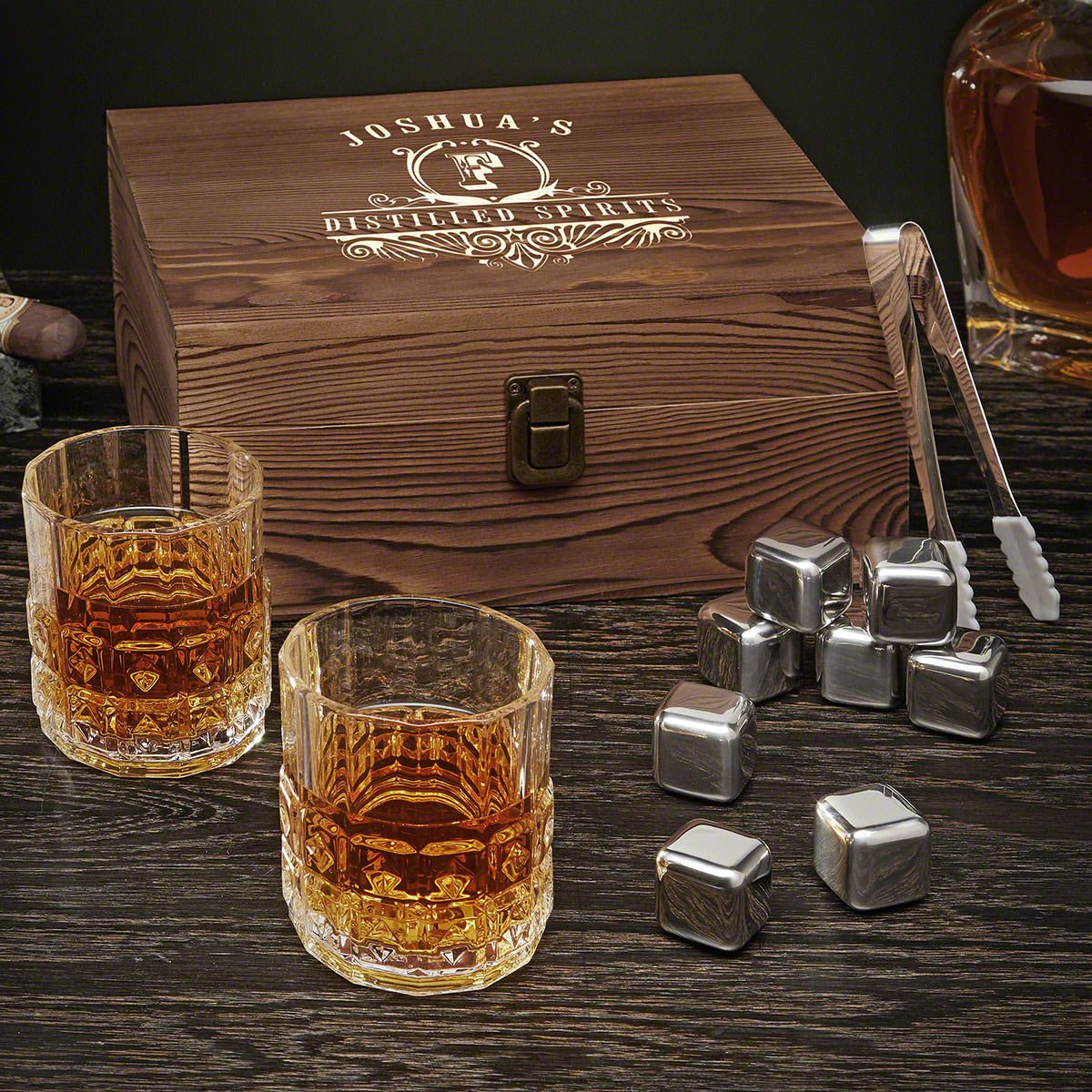 Carraway Personalized Whiskey Gift Set