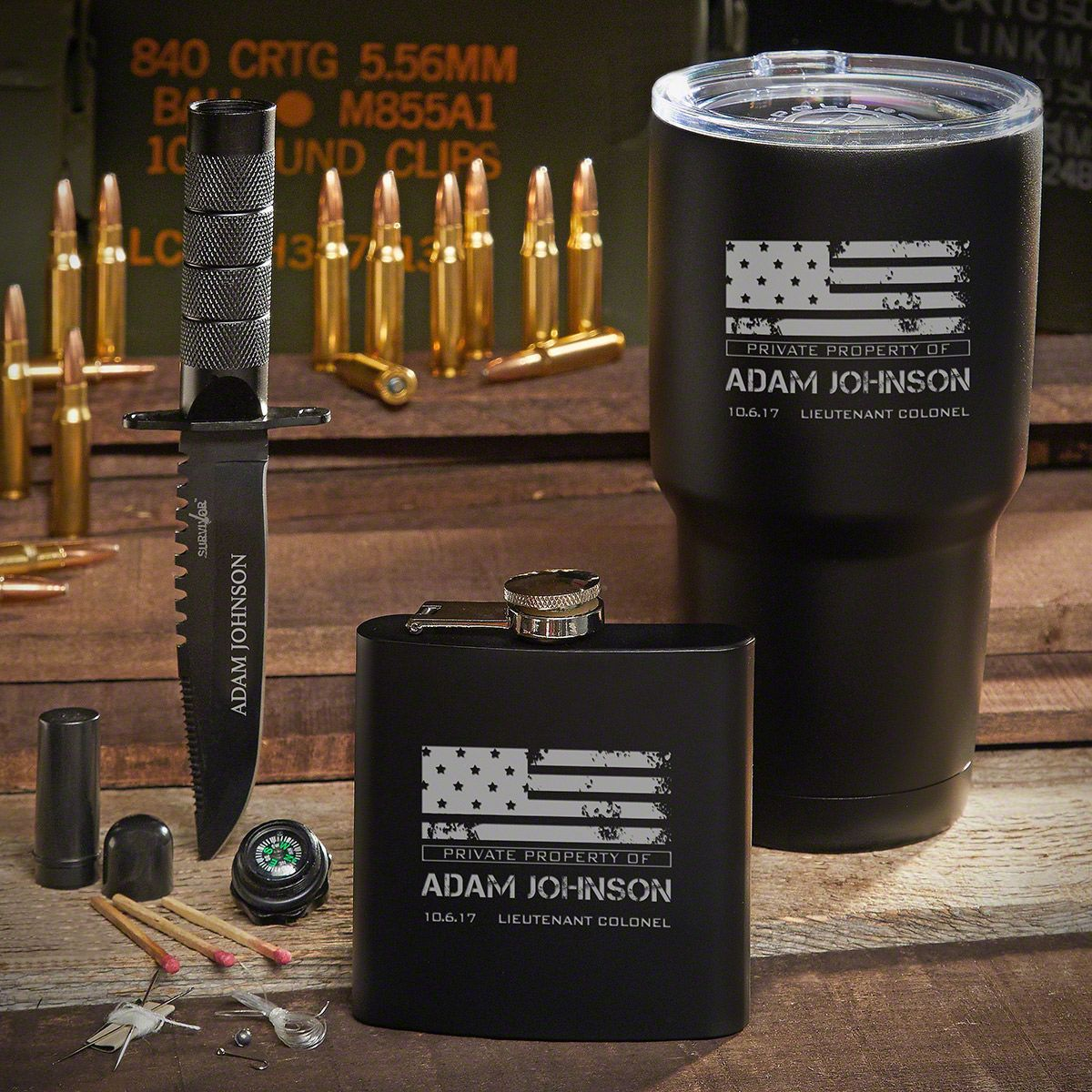 Spec Ops Engraved Tumbler Set – Unique Military Gifts