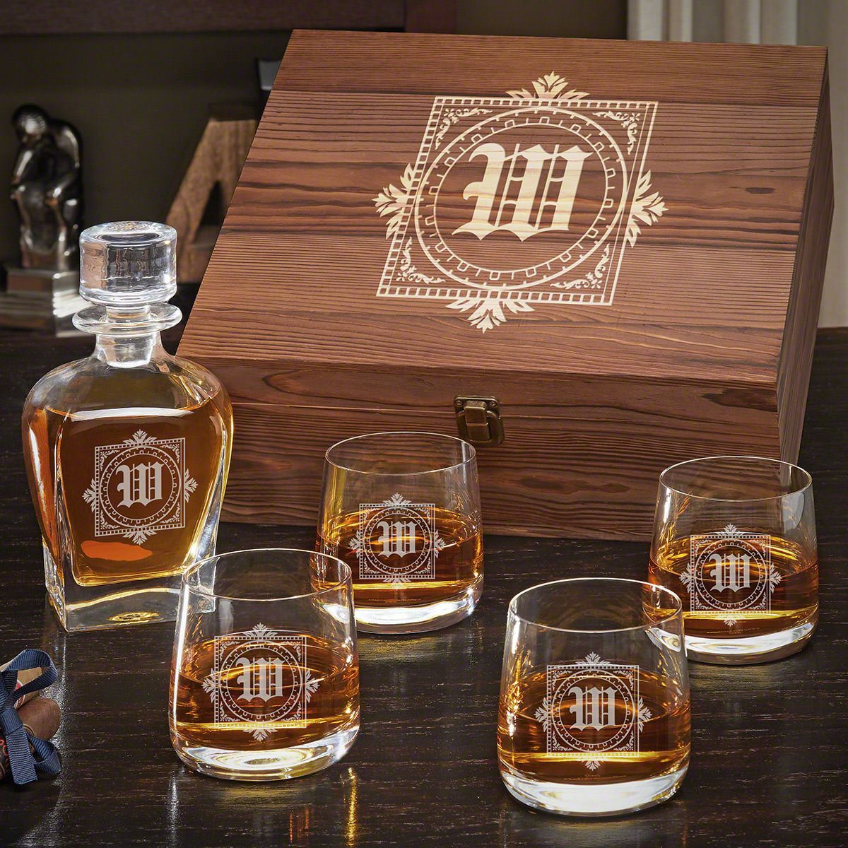 Winchester Personalized Decanter Set
