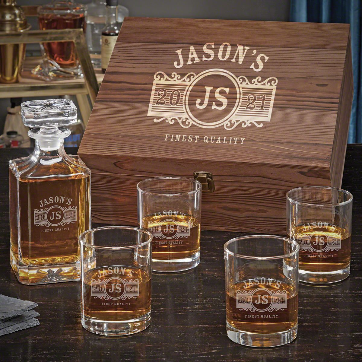 Marquee Personalized Decanter Set