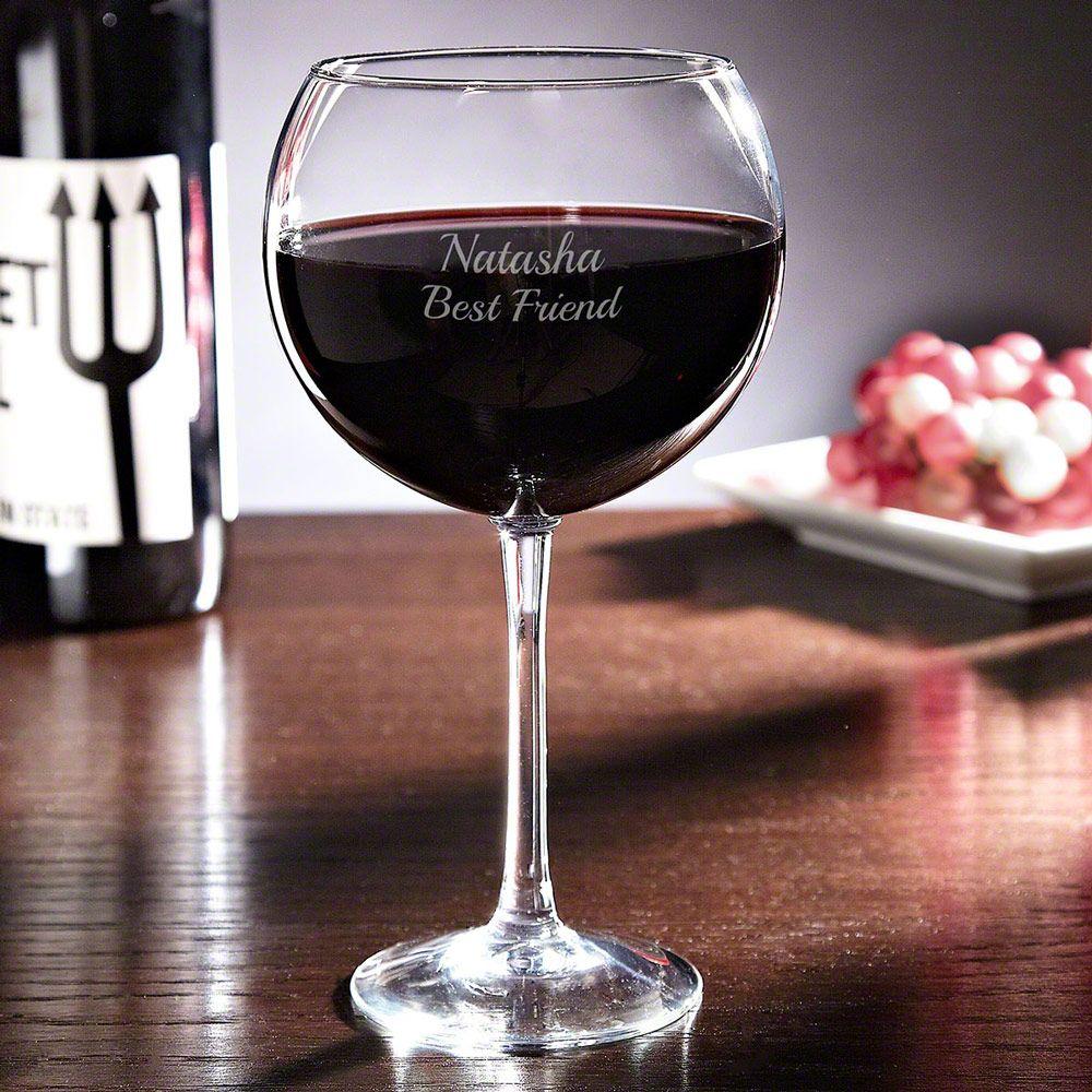 Personalized Red Wine Glass - 19oz