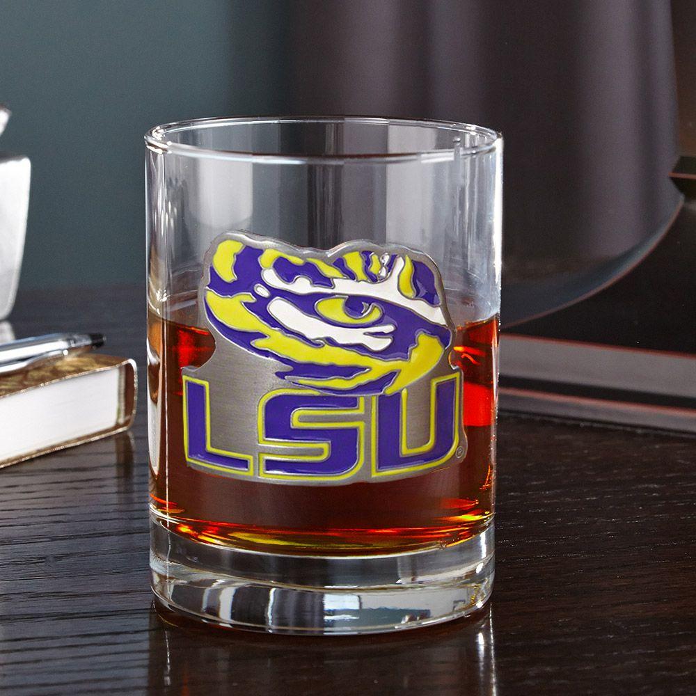 LSU Tigers Rocks Glass (Engravable)