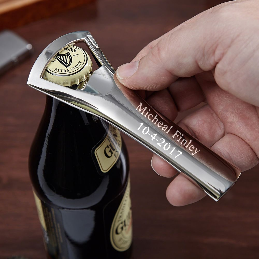 Nickel Plated Personalized Bottle Opener