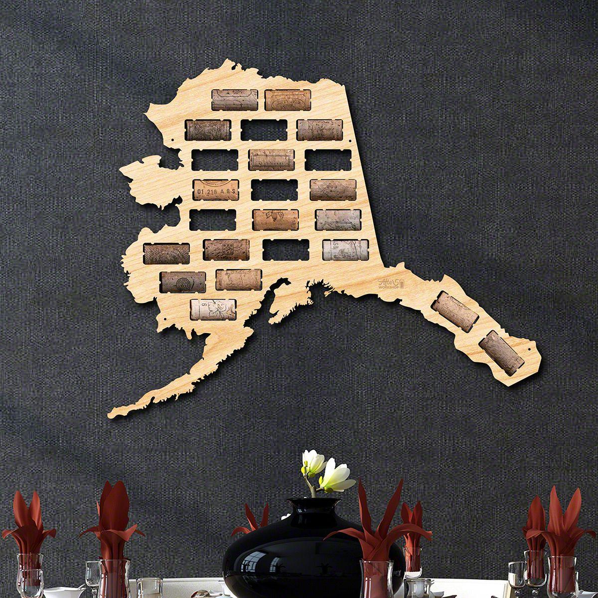 Alaska Wine Cork Map