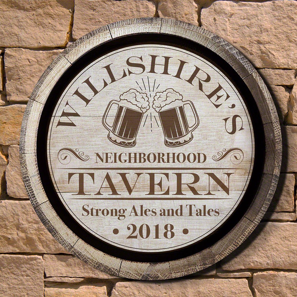 Ales and Tales Neighborhood Tavern Custom Sign