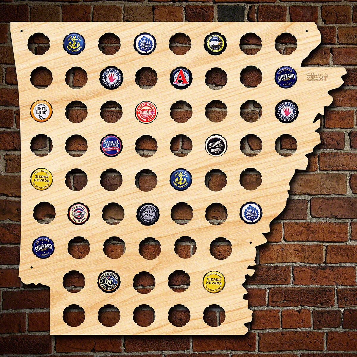 Arkansas Beer Cap Map