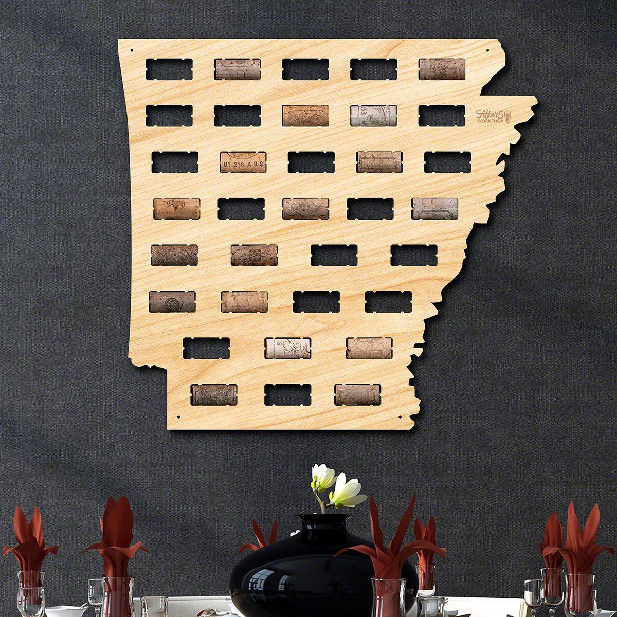 Arkansas Wine Cork Map