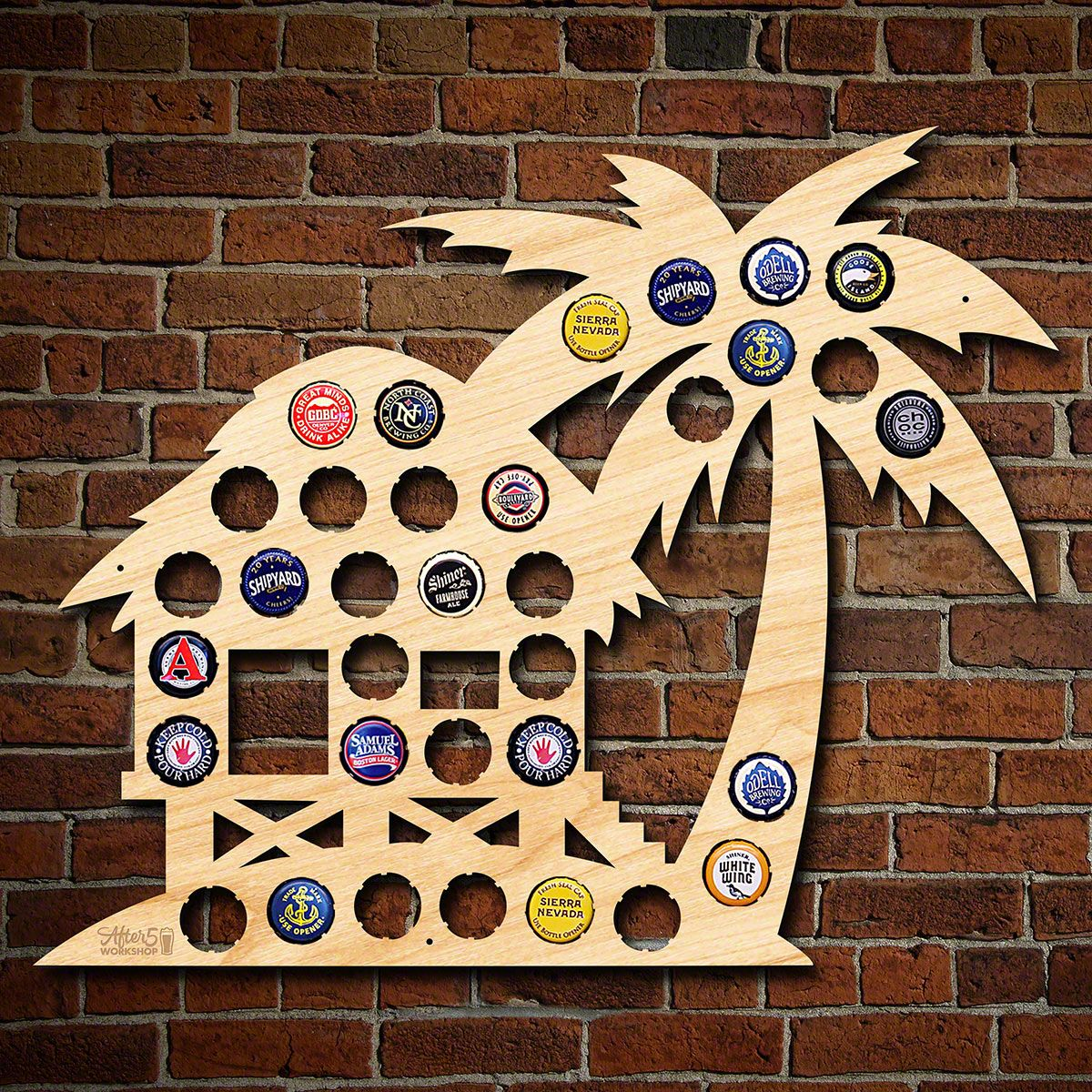 Beach Hut Beer Cap Map