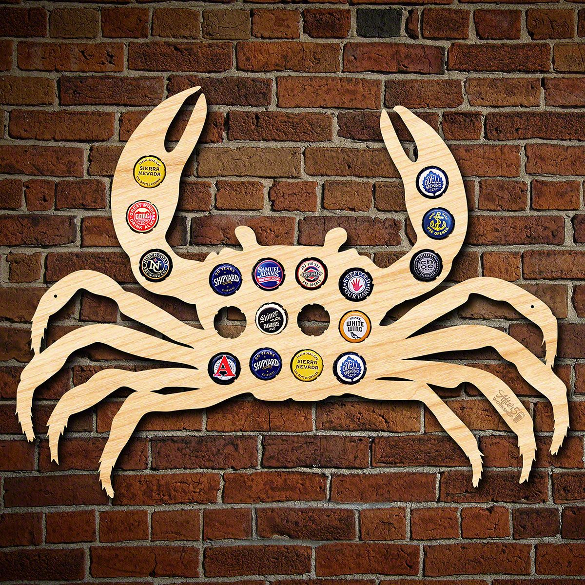Blue Crab Beer Cap Map