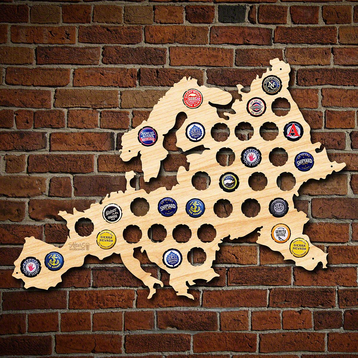 Europe Beer Cap Map