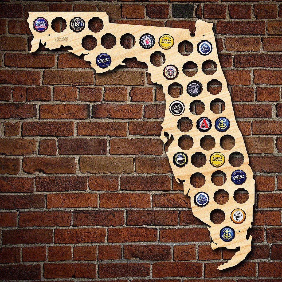 Florida Beer Cap Map