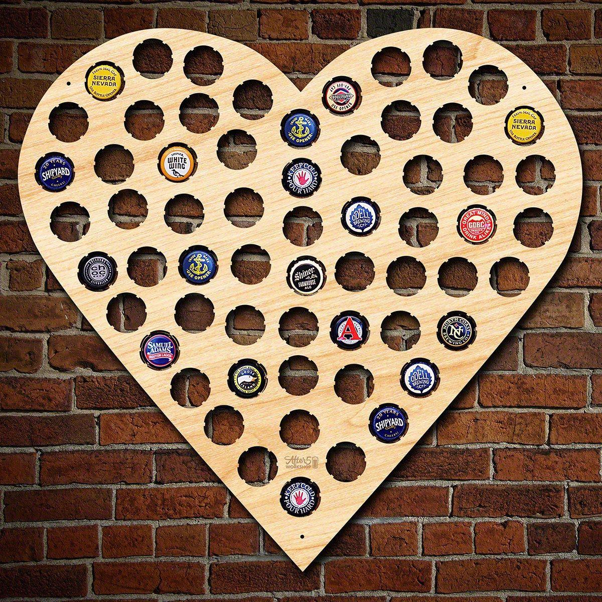 I Heart Beer Bottle Cap Holder