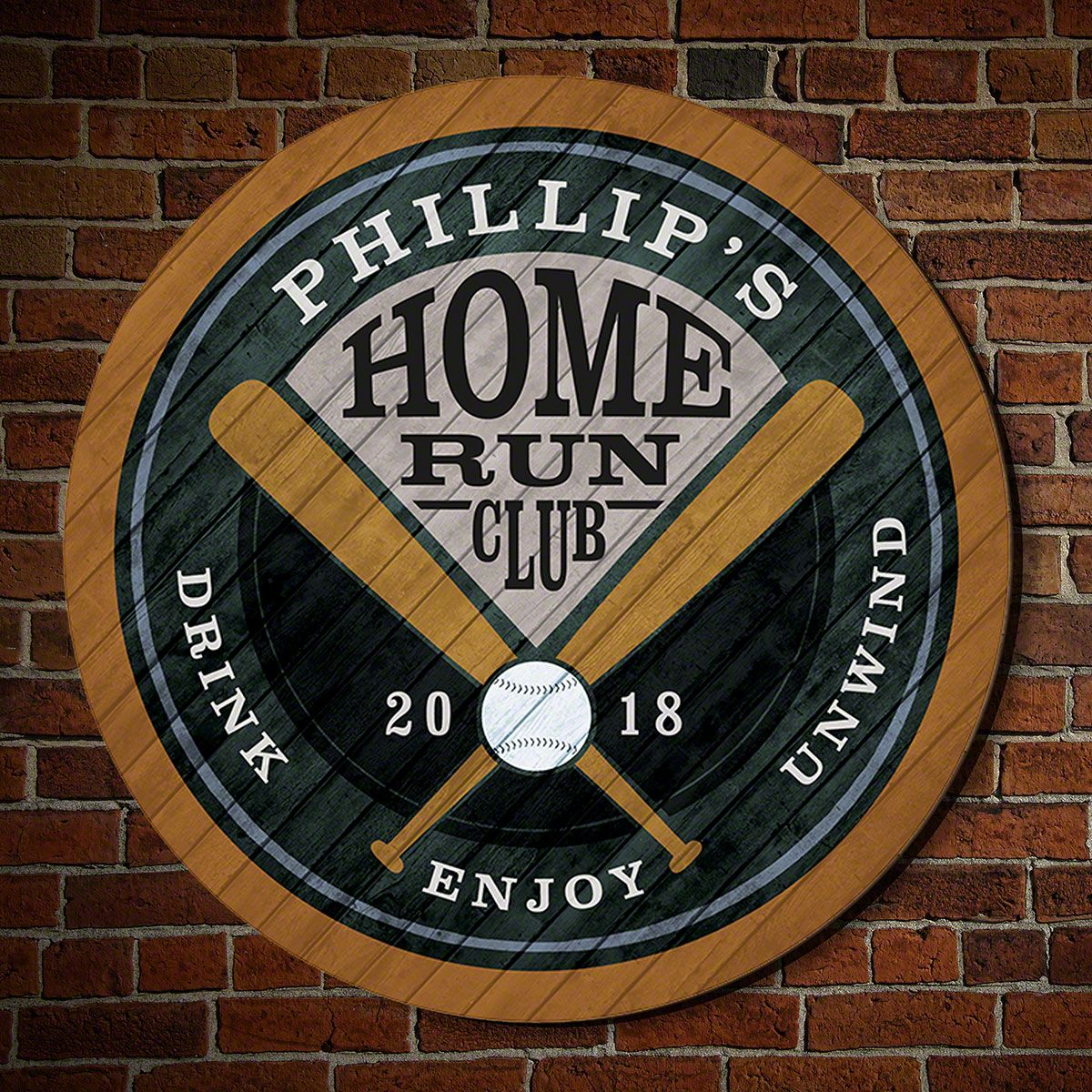 Home Run Club Personalized Sign for Baseball Lovers, 6 Colors