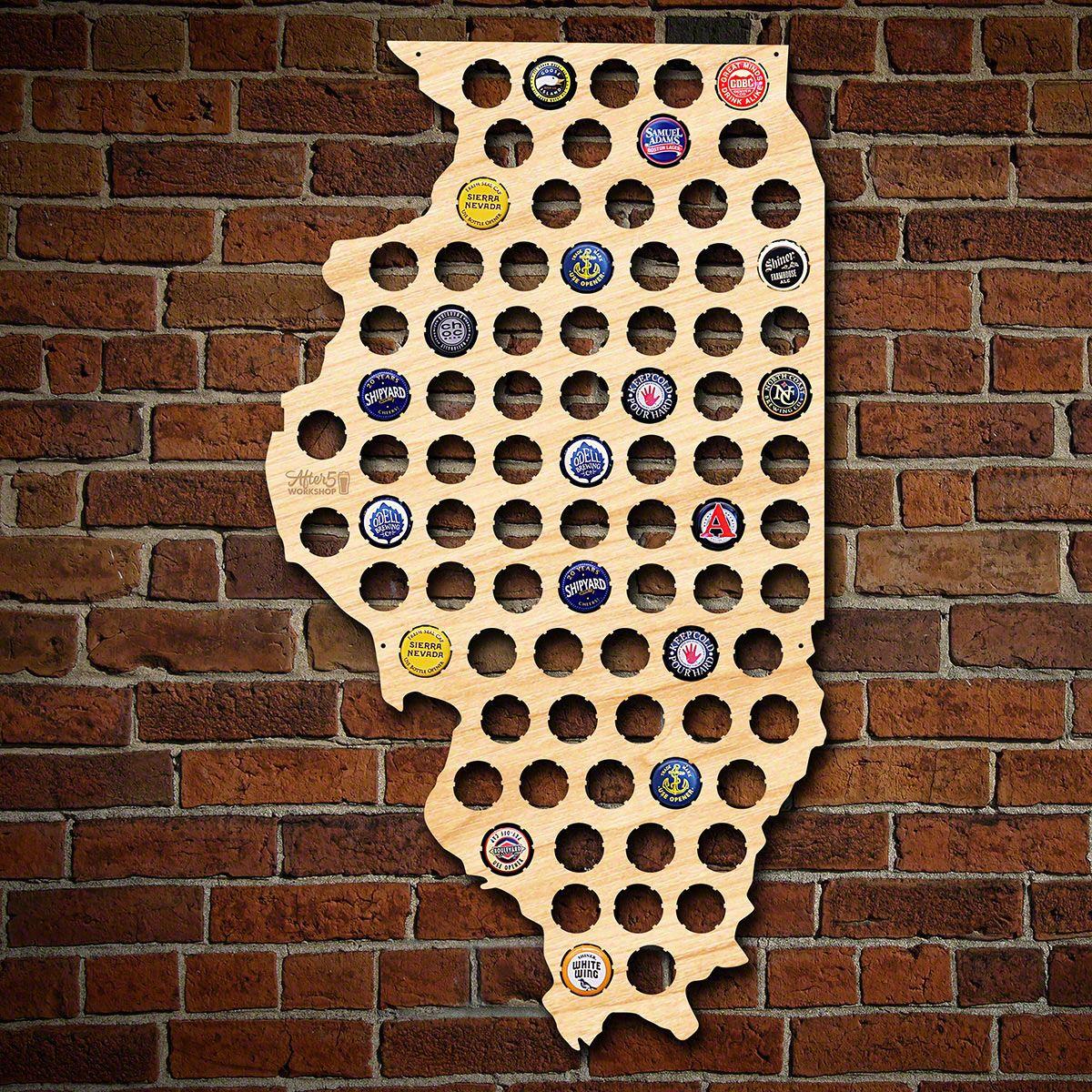 Illinois Beer Cap Map