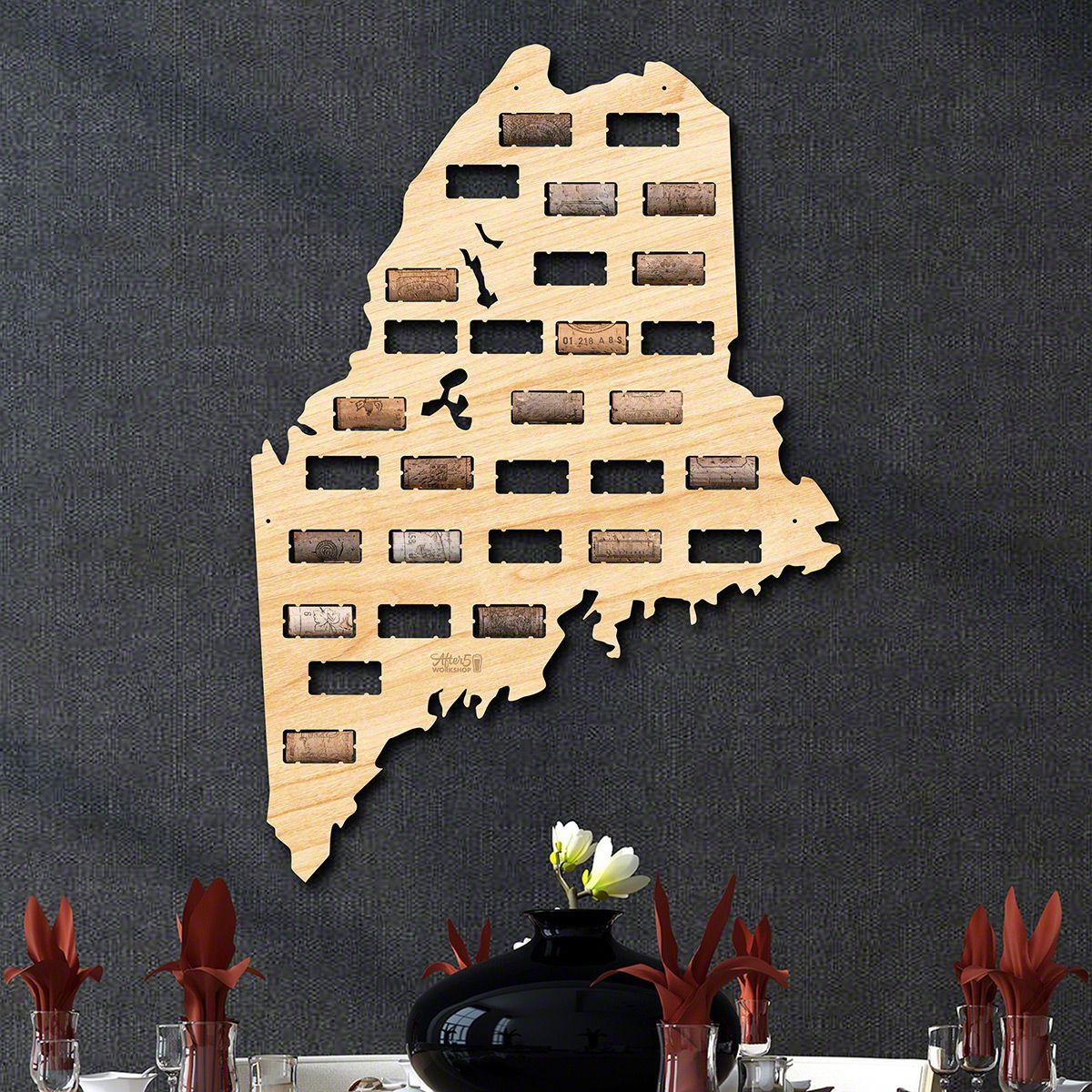Maine Wine Cork Map