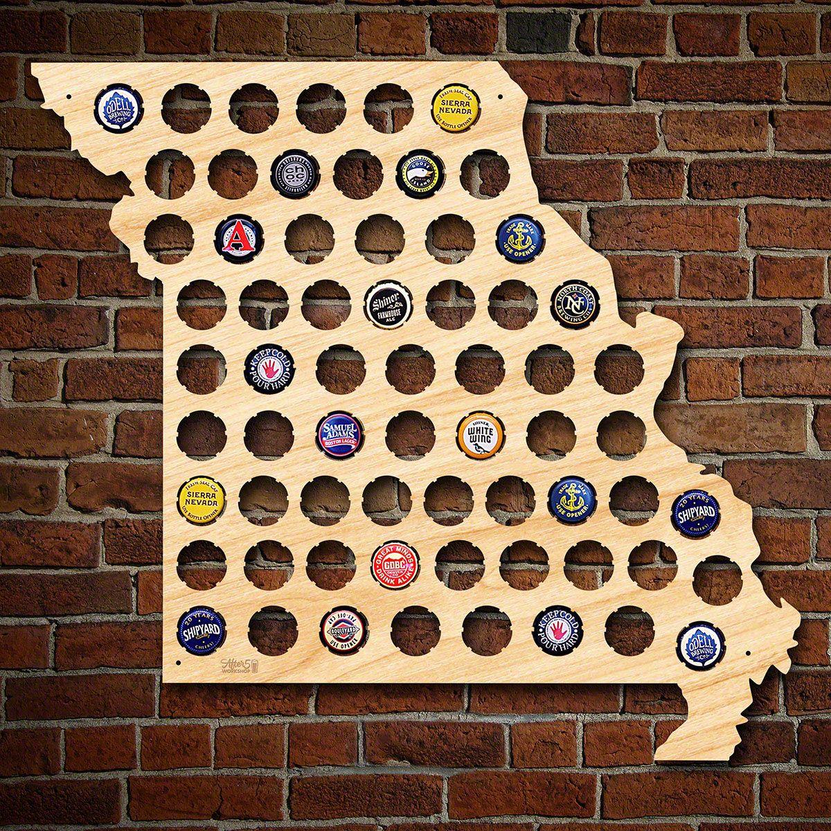 Missouri Beer Cap Map