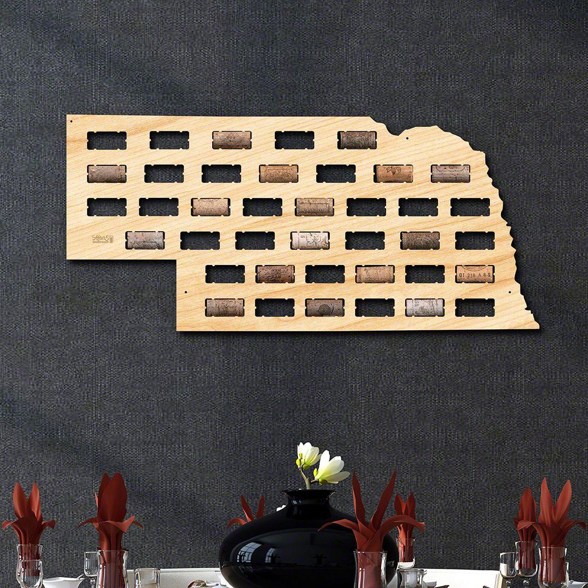 Nebraska Wine Cork Map