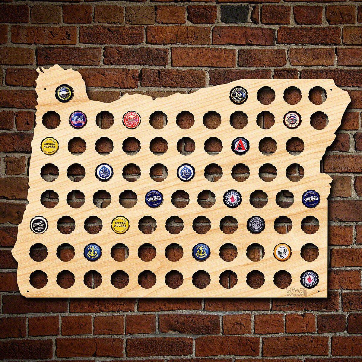 Oregon Beer Cap Map