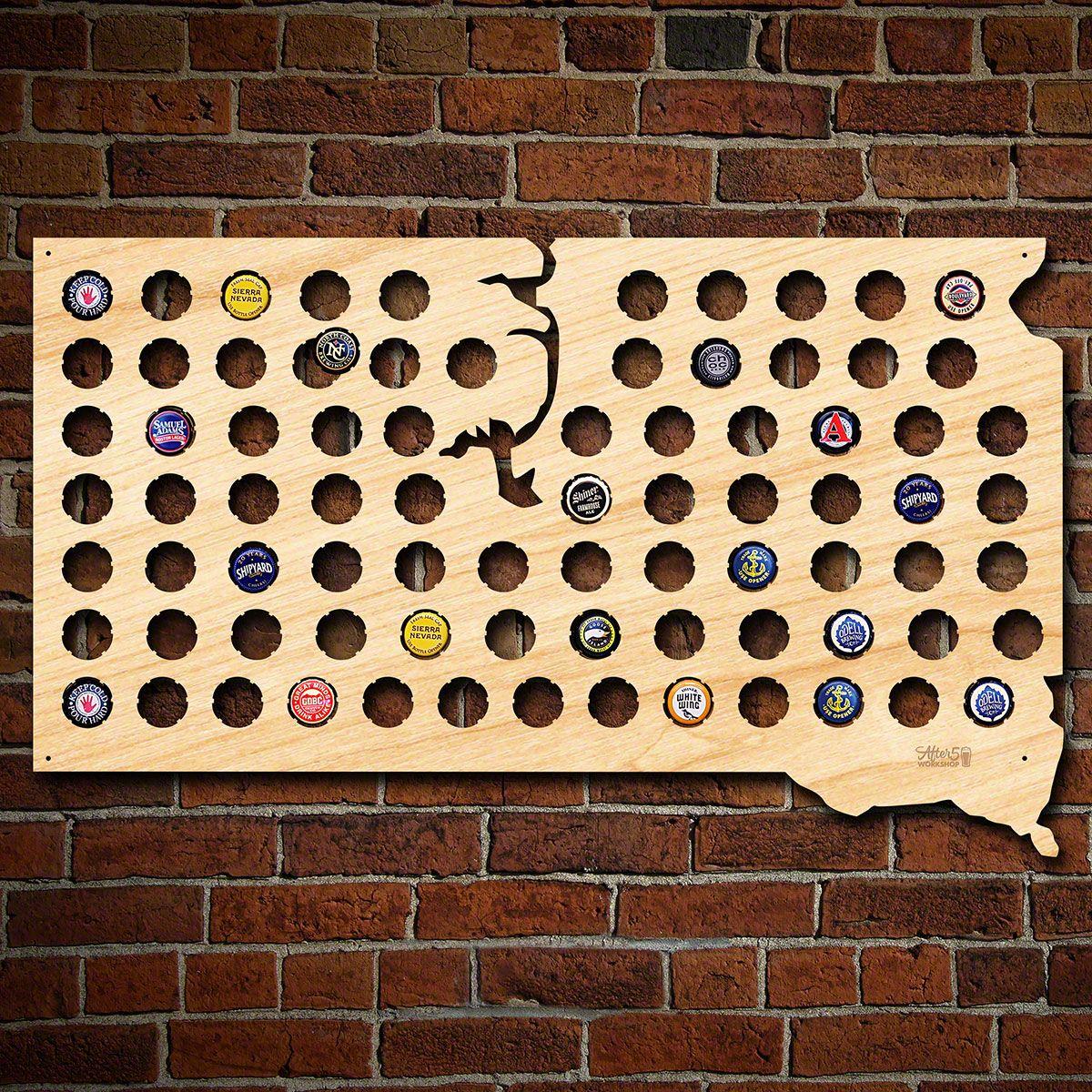 South Dakota Beer Cap Map