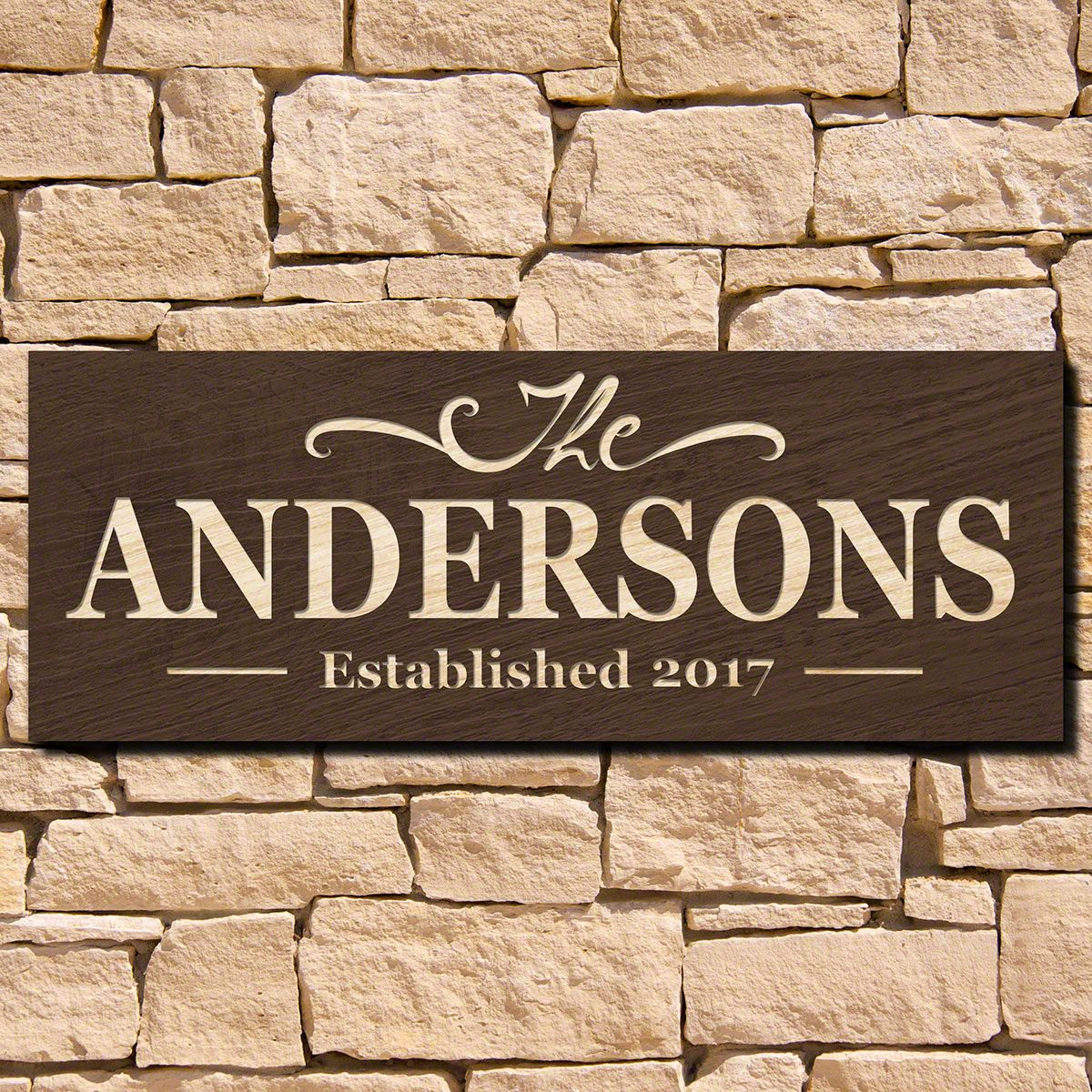 Brentwood Engraved House Sign (Signature Series)