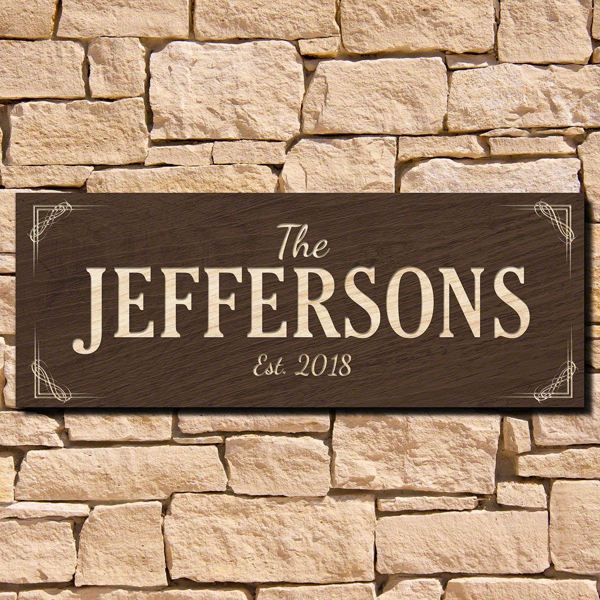 Marston Family Name Wood Sign (Signature Series)