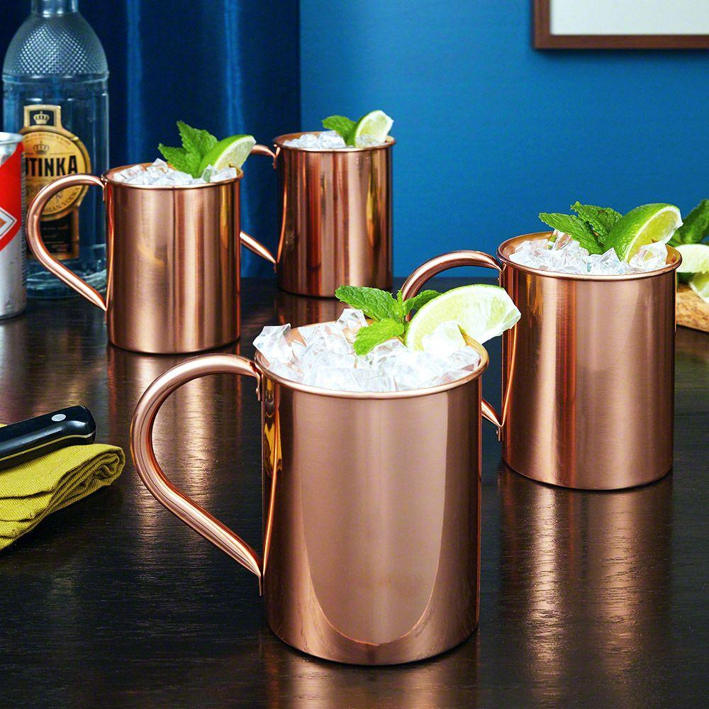 Nikolay Large 22 oz Copper Mugs, Set of 4