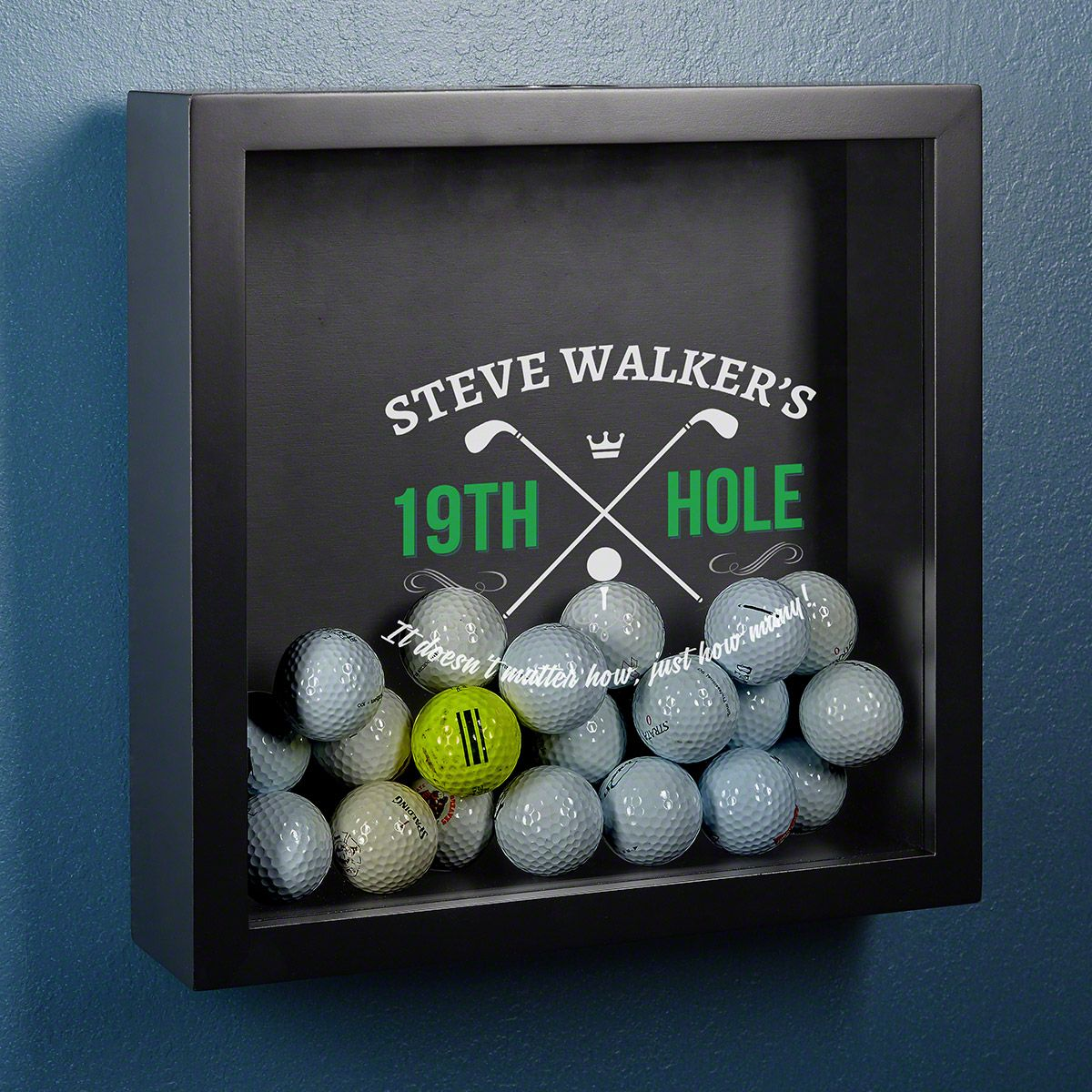 19th Hole Personalized Shadow Box