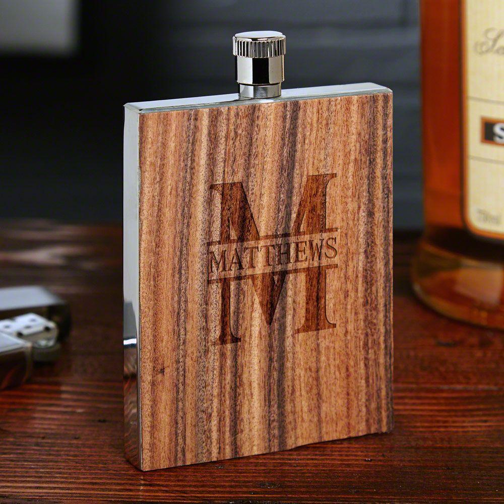 Oakmont Rosewood Personalized Flask