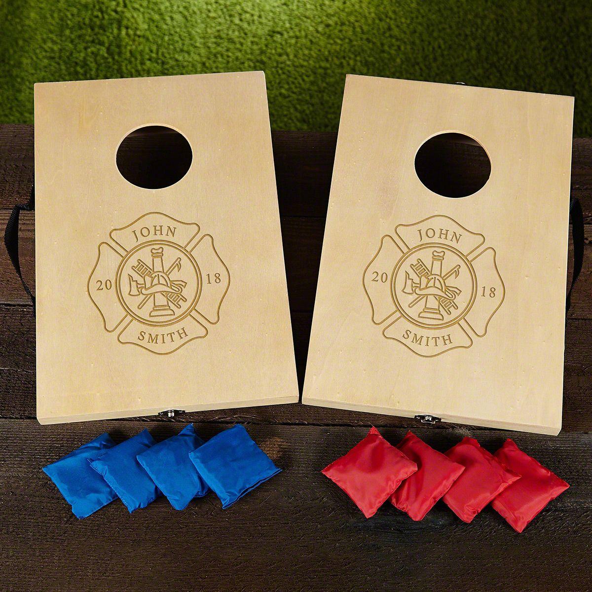 Personalized Firefighter Cornhole Game Set