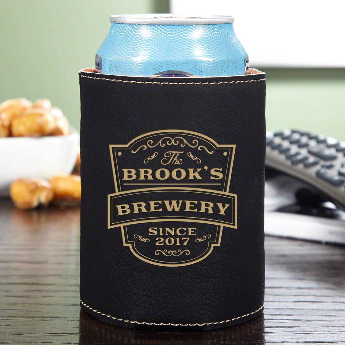 Vintage Brewery Personalized Can Koozie