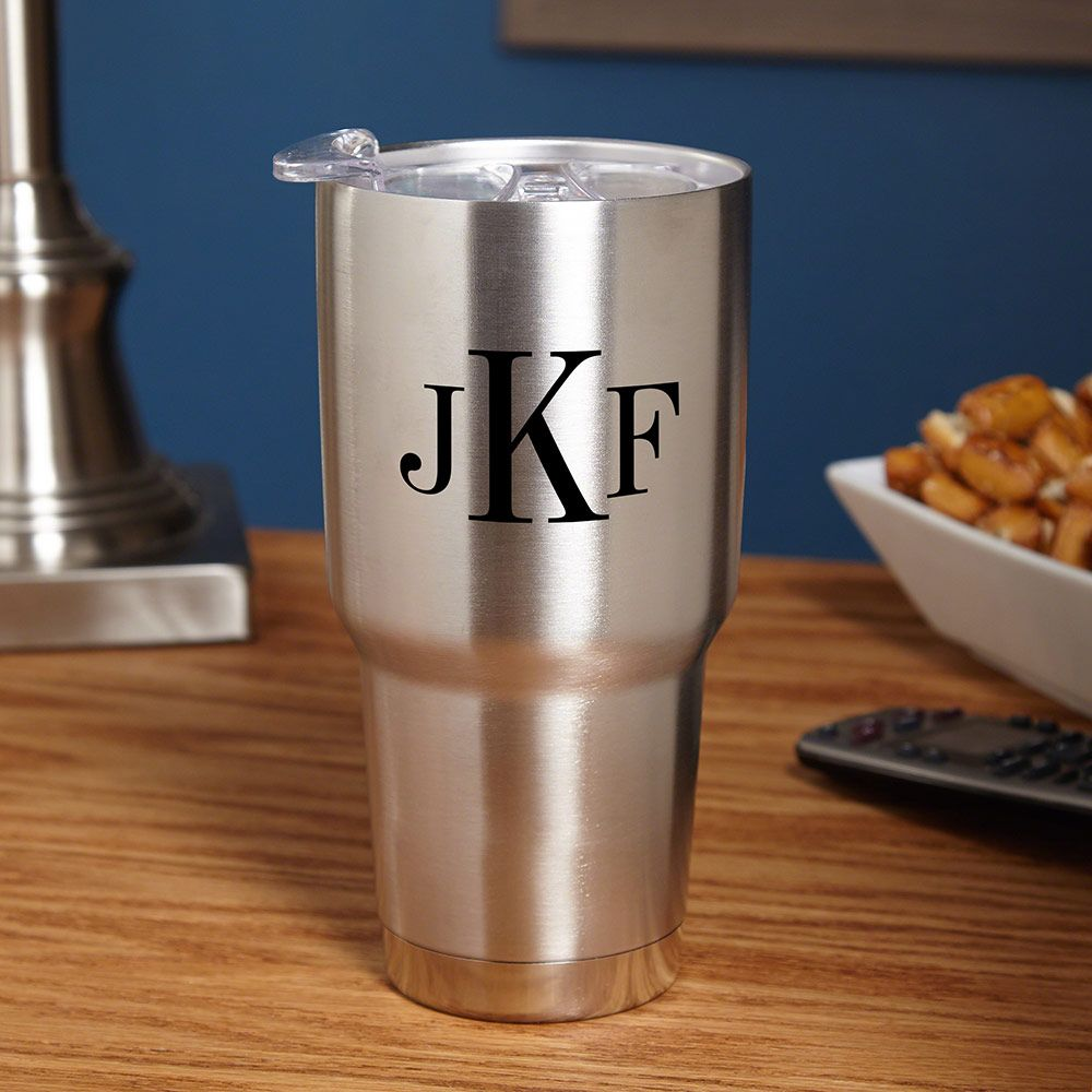 Classic Monogram Stainless Steel Drink Tumbler