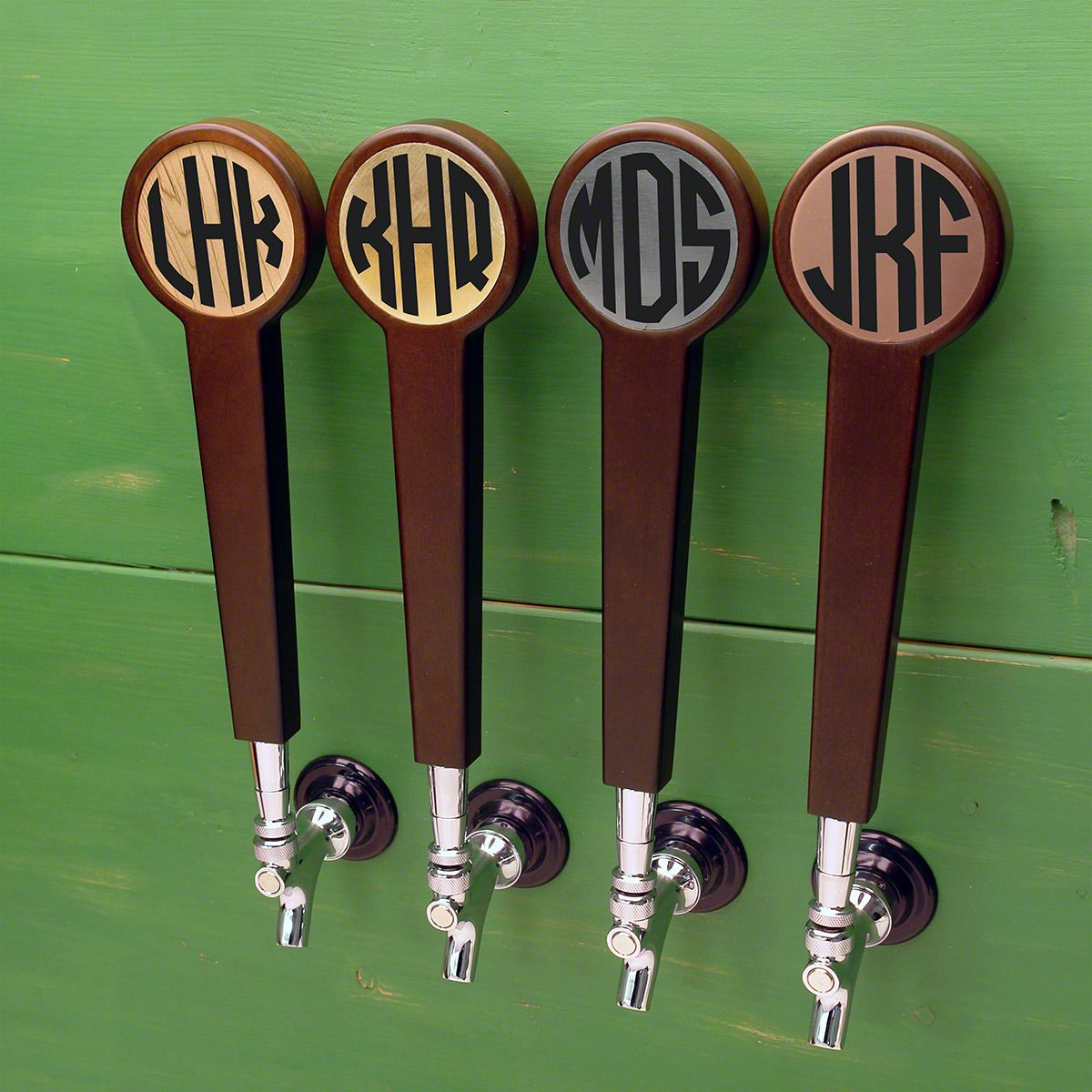 Circle Monogram Custom Tap Handle (4 Color Options)