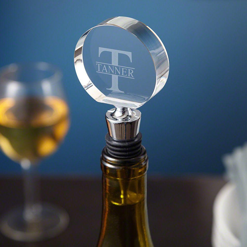 Oakmont Optic Crystal Engraved Wine Stopper