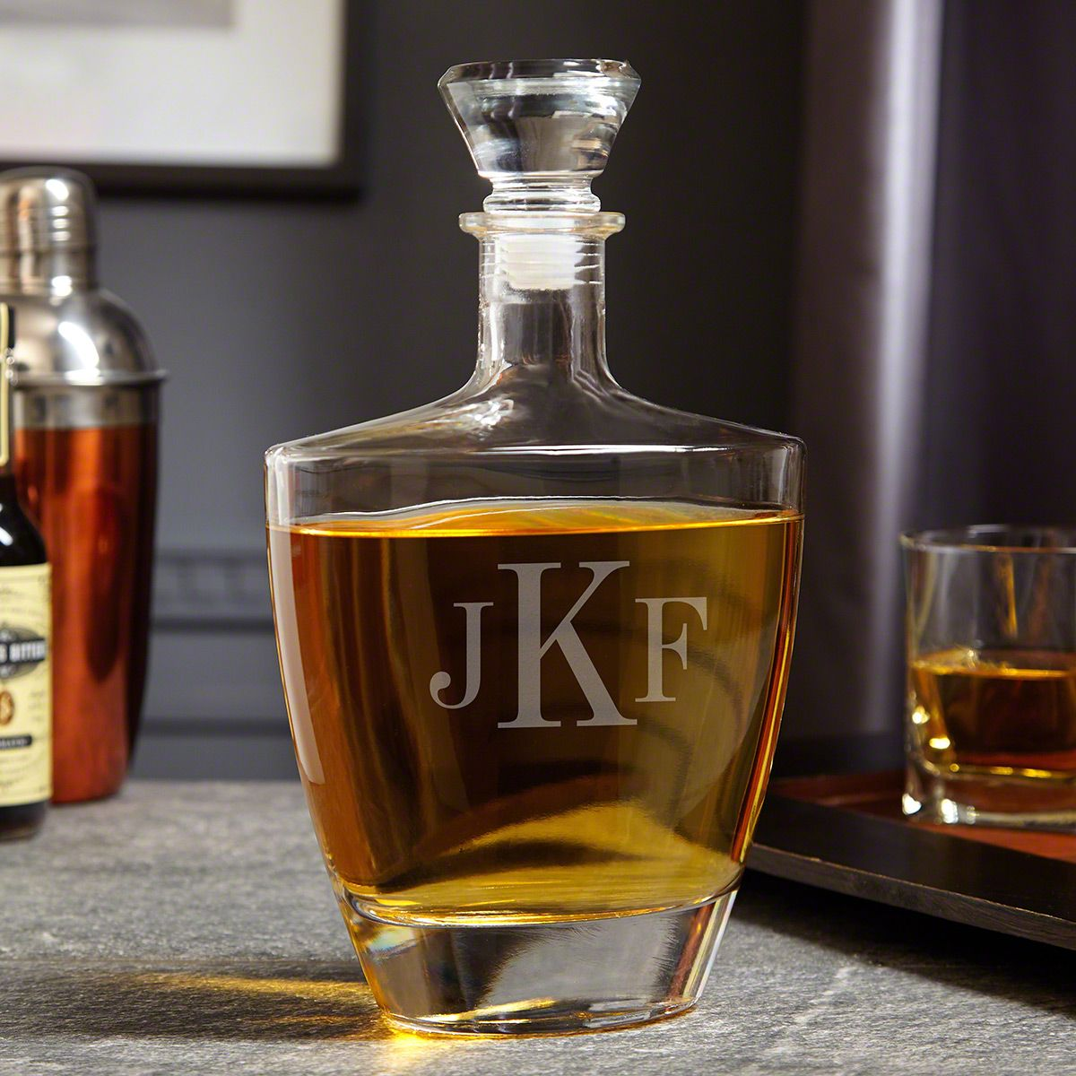 Classic Monogrammed Custom Wallace Whiskey Decanter