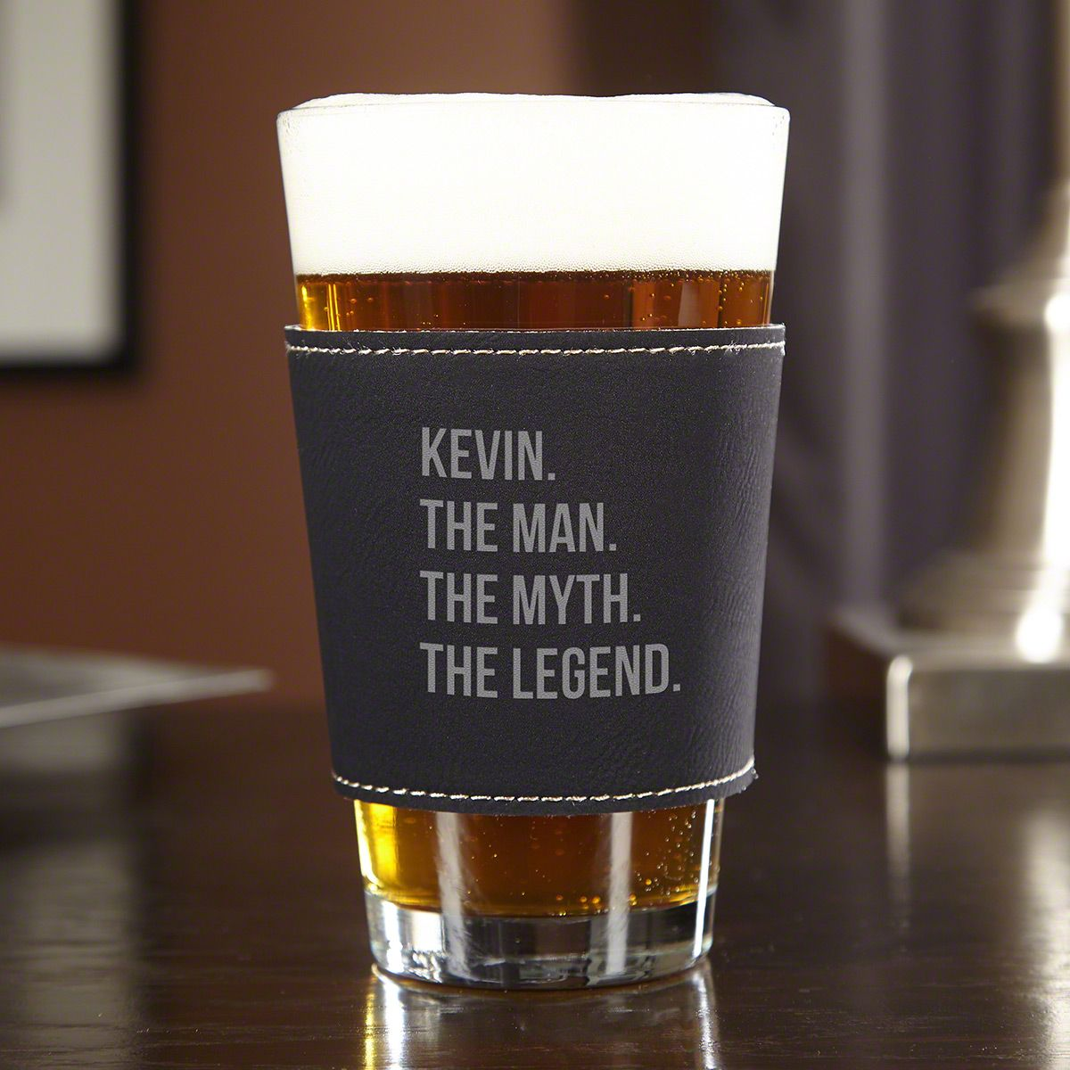 The Man The Myth The Legend Custom ThermaSleeve Pint Glass