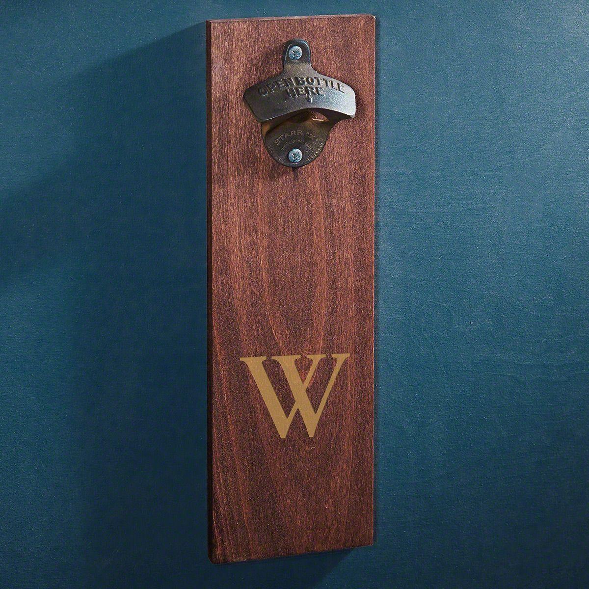 Personalized Wooden Wall Bottle Opener
