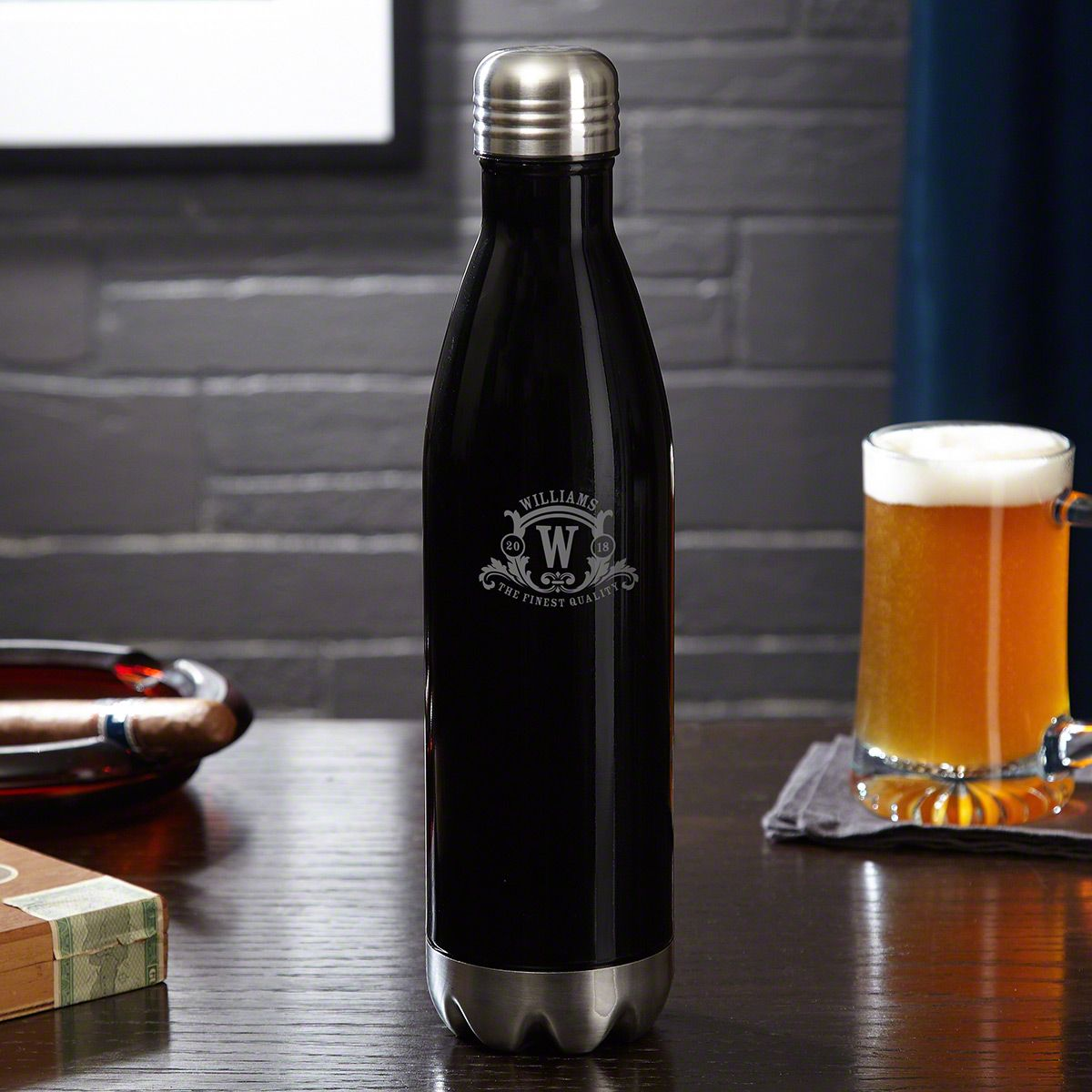 Westbrook Monogram Personalized Beer Growler Bottle