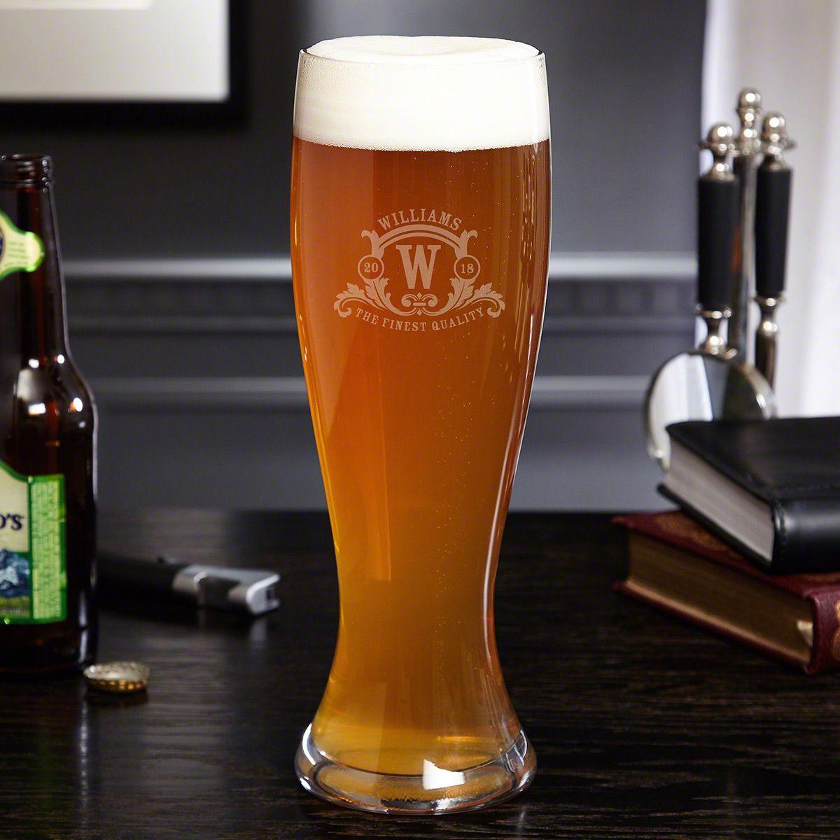 Westbrook Monogram Extra Large Custom Beer Glass