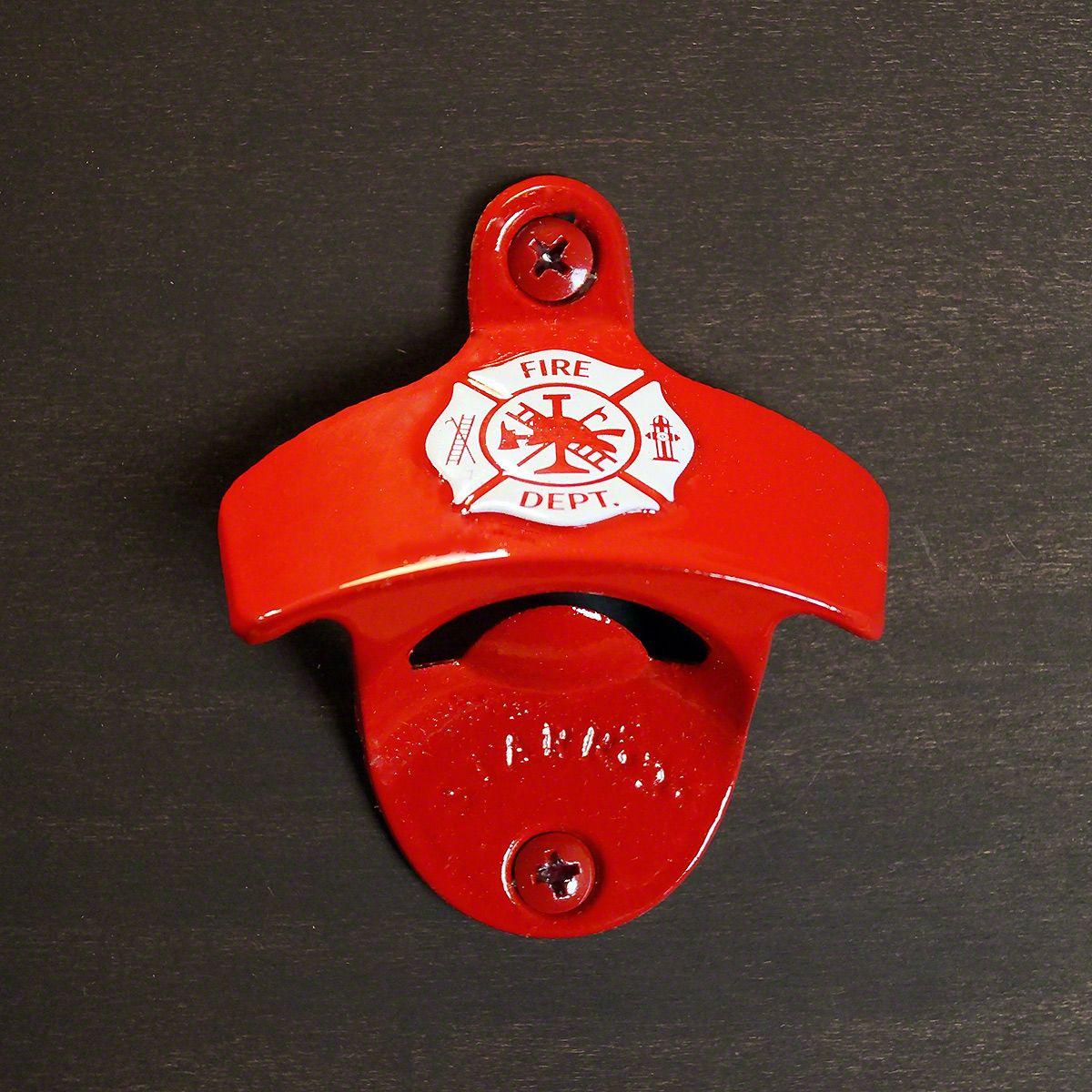 Firefighter Red Maltese Cross Hanging Bottle Opener