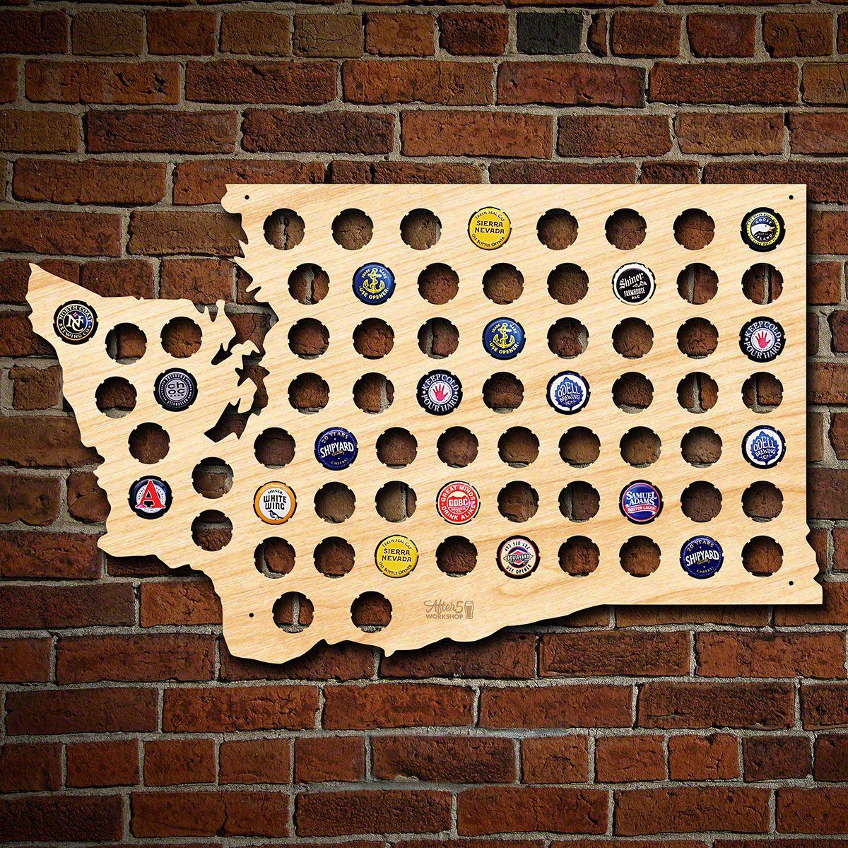 Washington Beer Cap Map