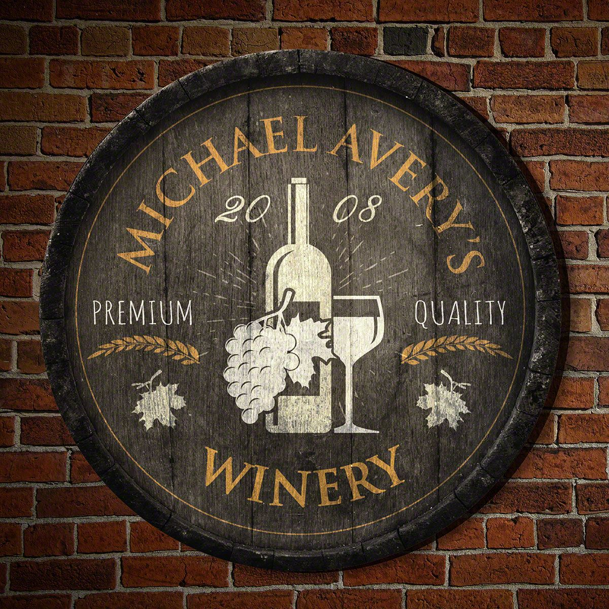 Fruit of the Vine Personalized Wall Decor Sign