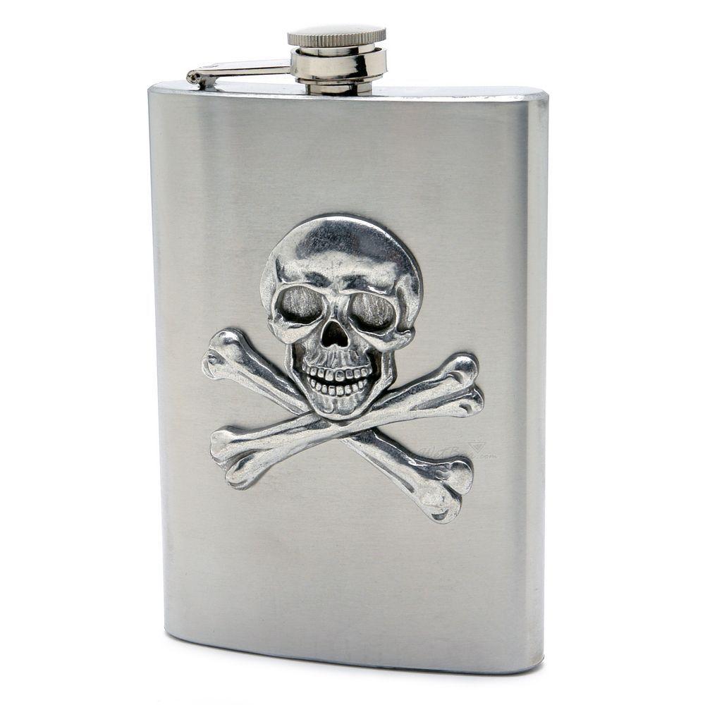 Skull and Crossbones Hip Flask