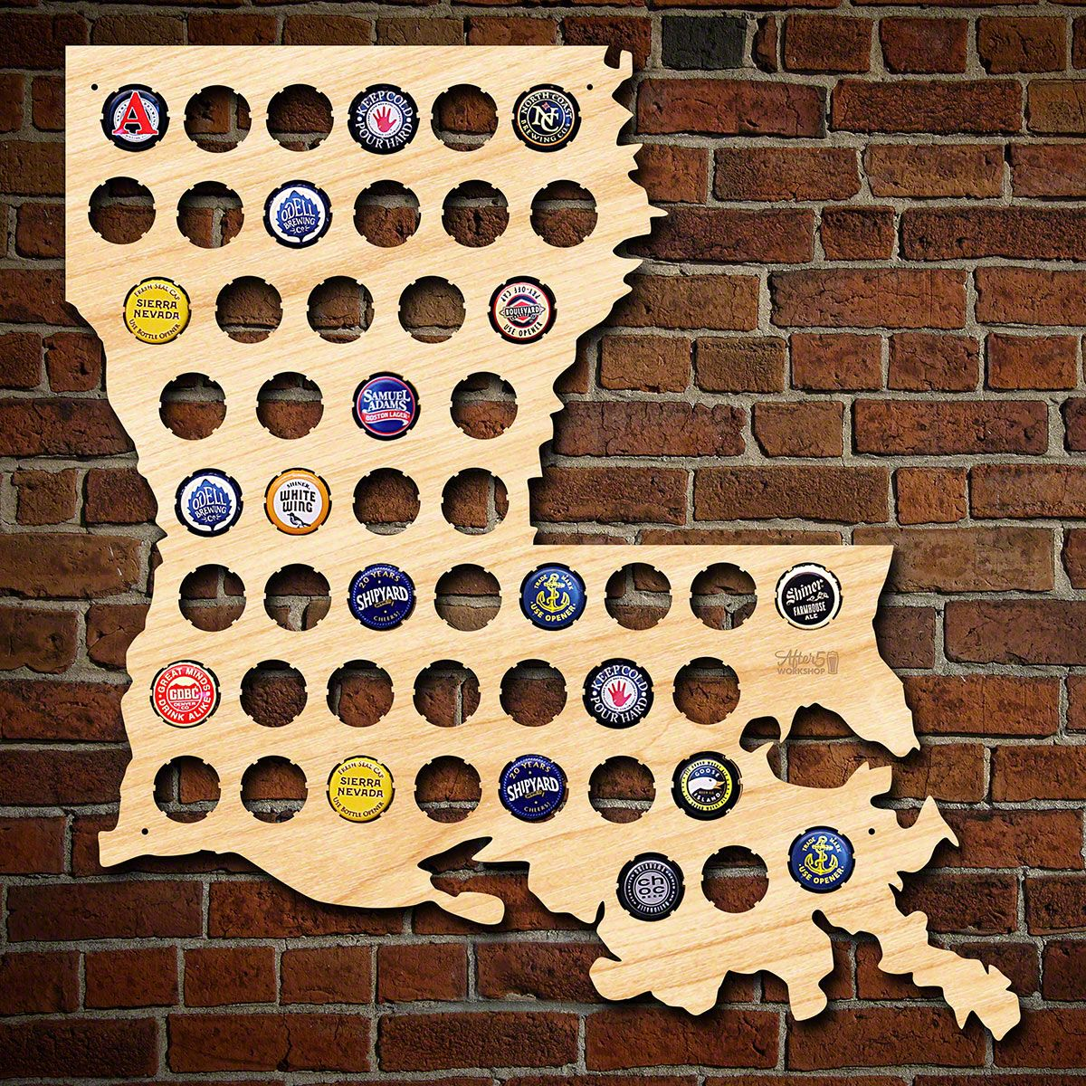 Louisiana Beer Cap Map