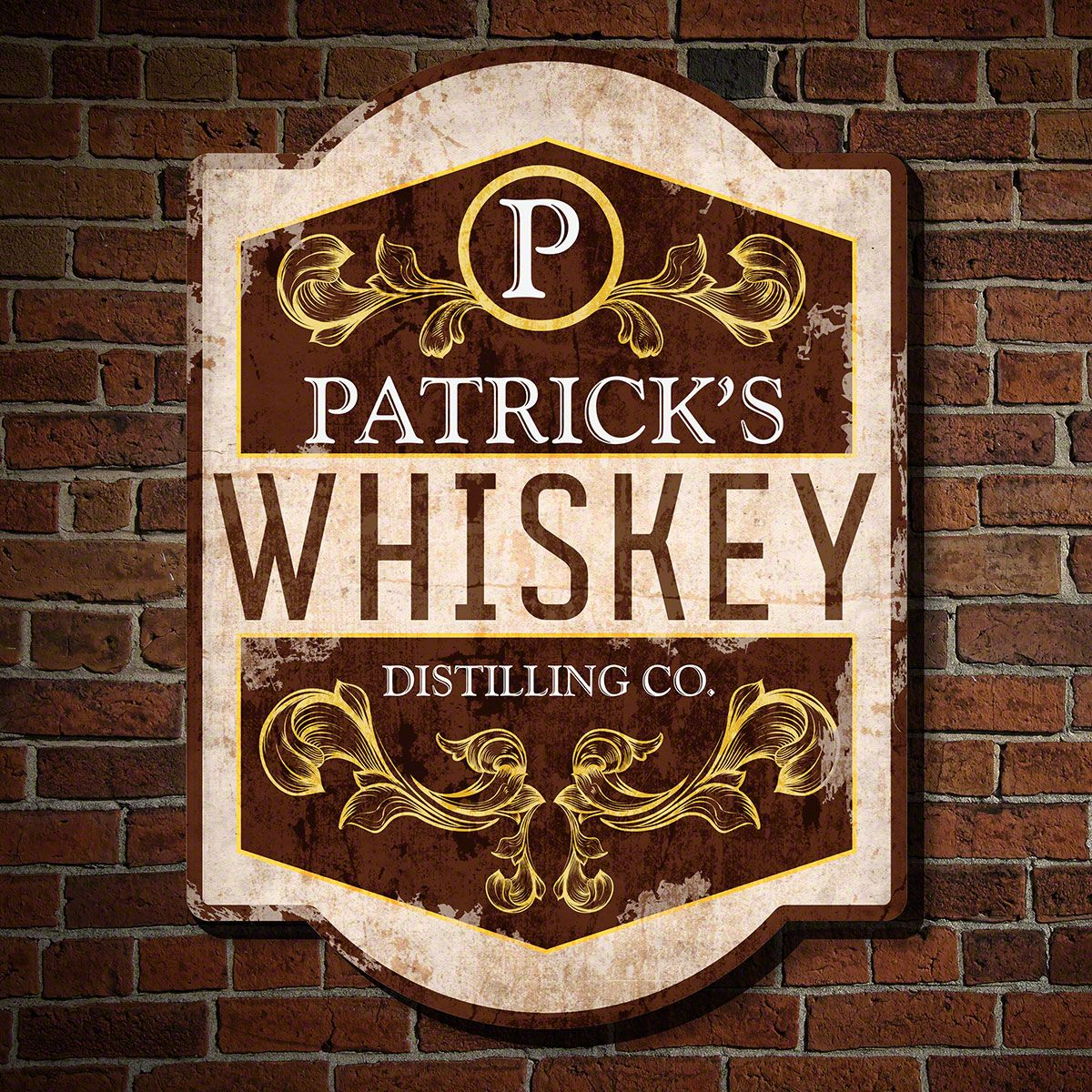 Old Whiskey Poster Color Sign