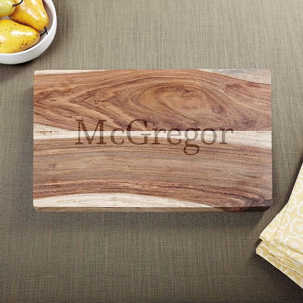 Exotic Hardwood Classic Cut Personalized Cutting Board
