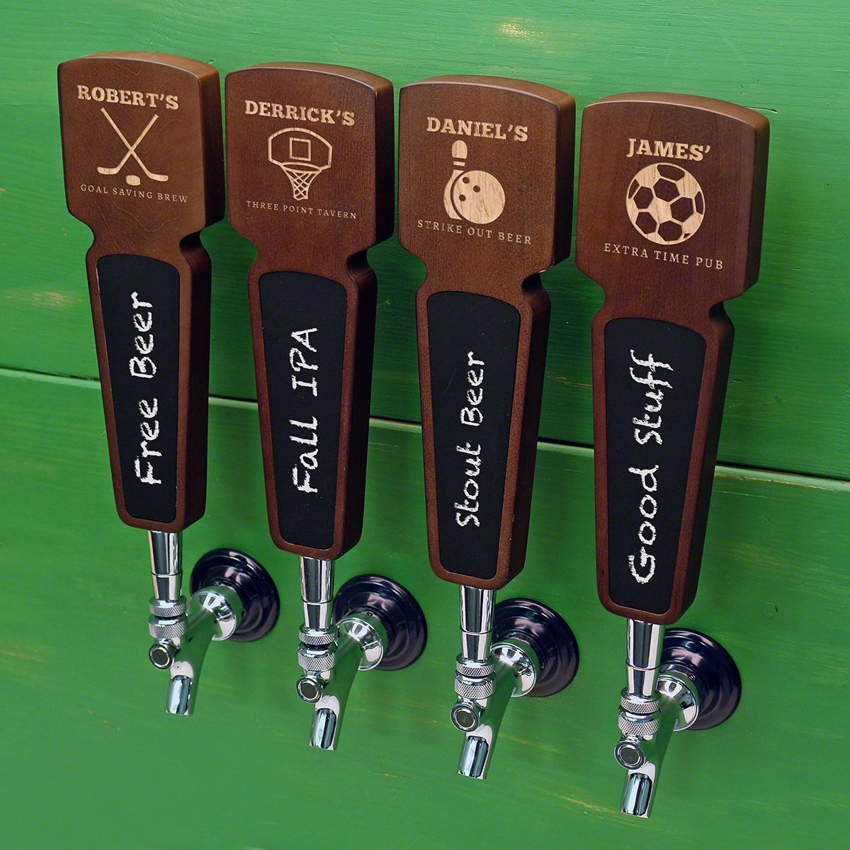 Sports Bar Custom Beer Tap Handle with Chalkboard