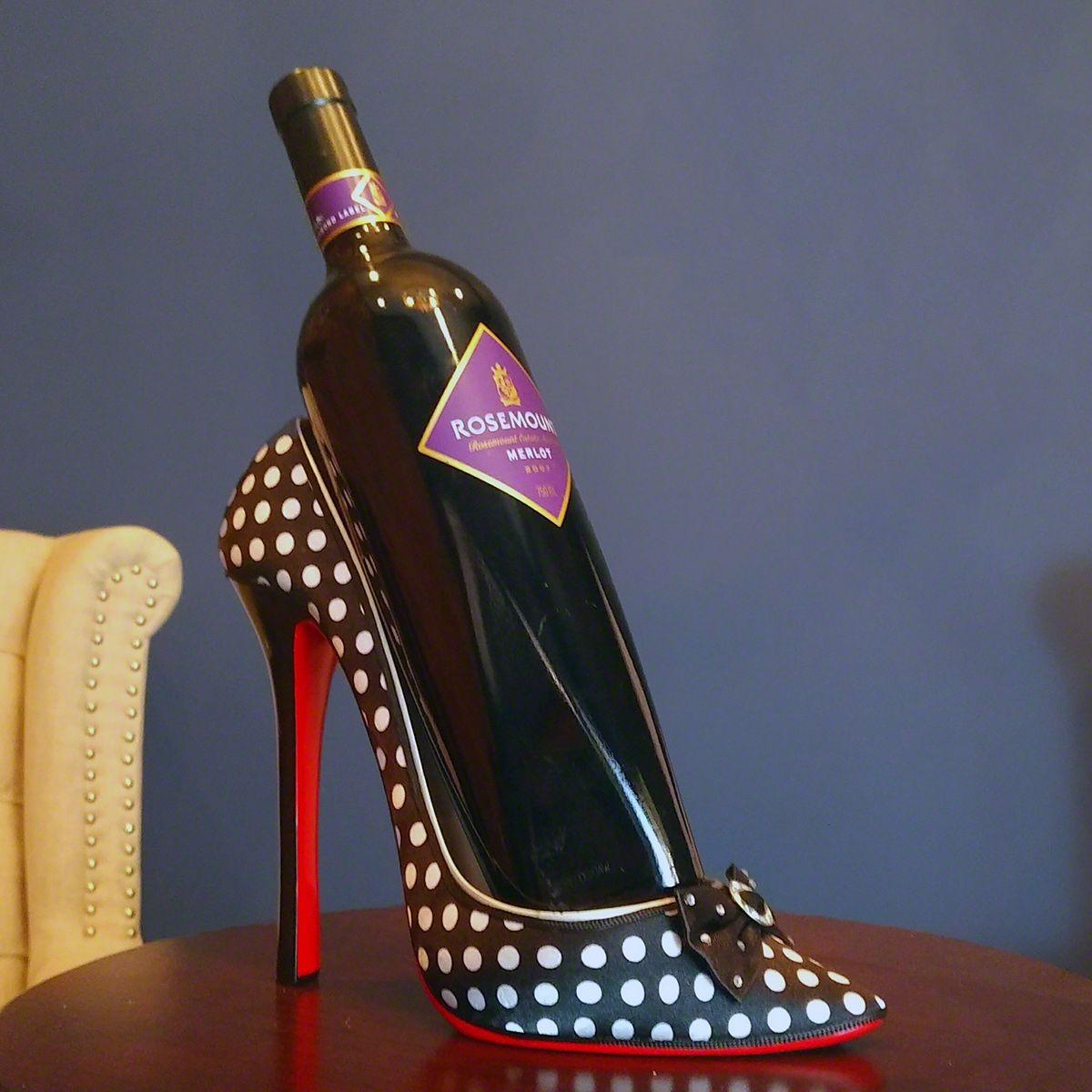 Shoe Wine Bottle Holder